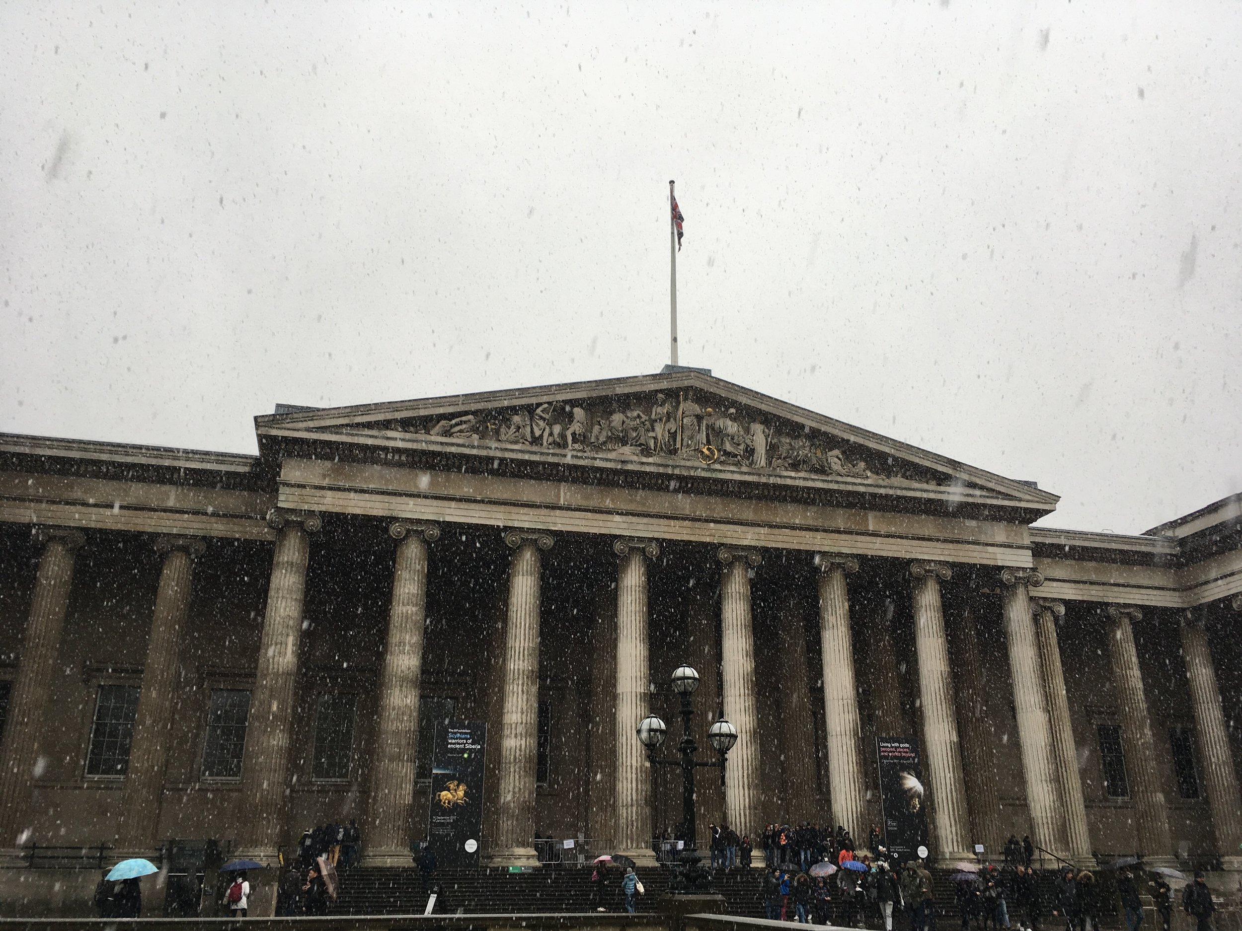 British Museum in the snow