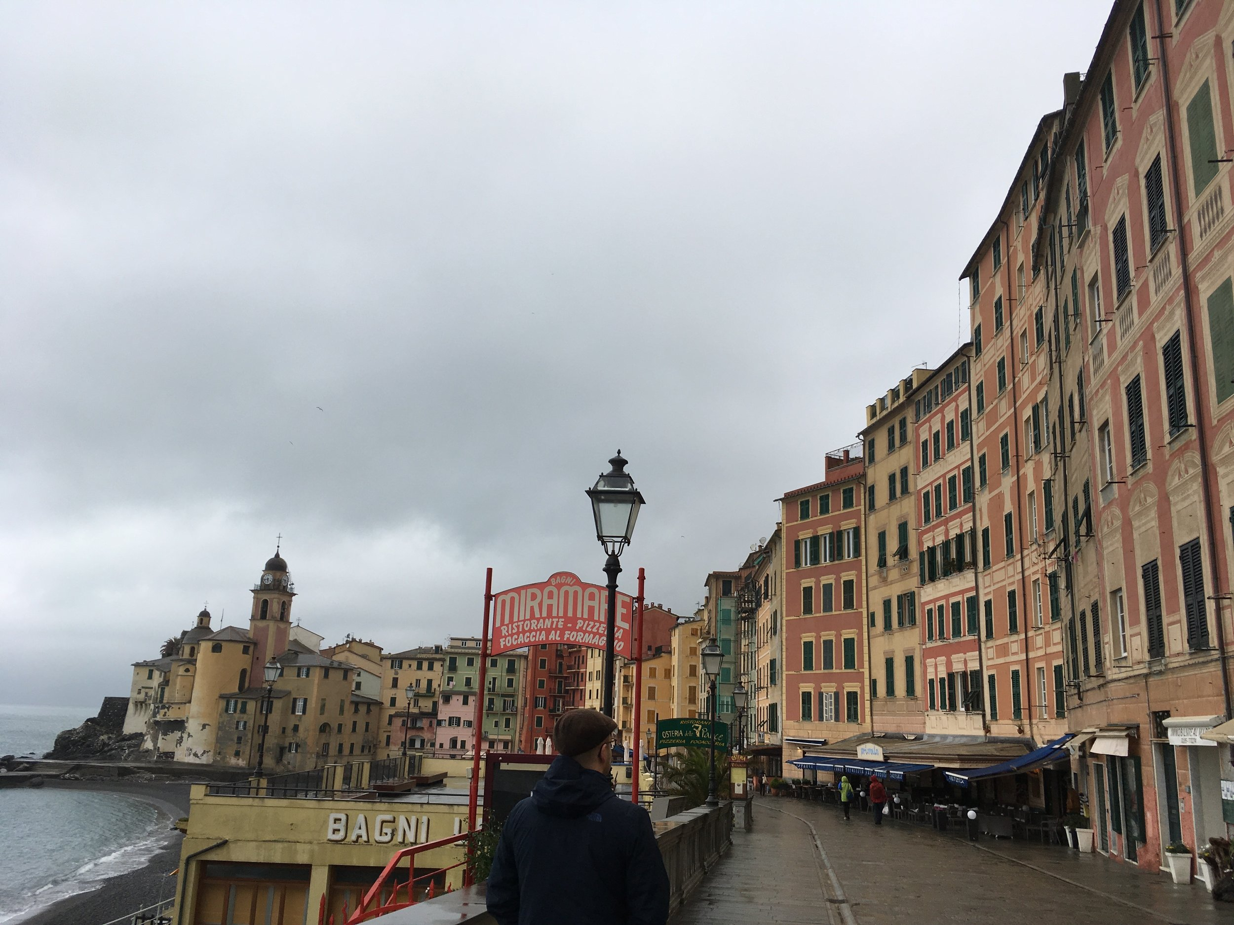 Camogli on a rainy afternoon
