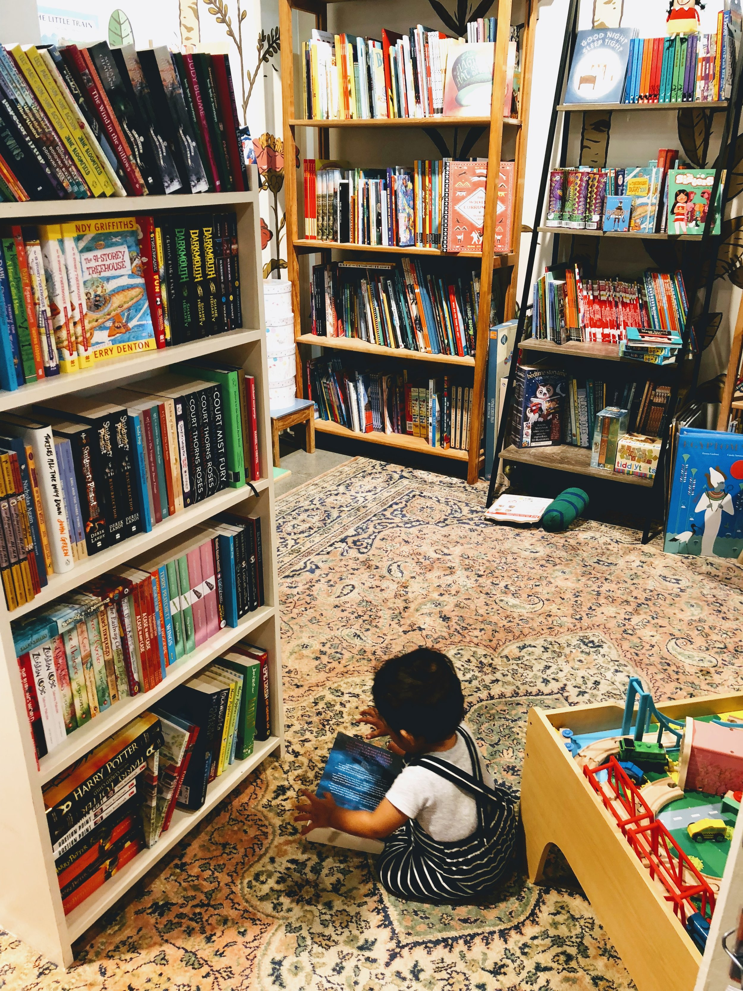I highly recommend Ekor Books for kid-friendliness, cute toys, and great books.