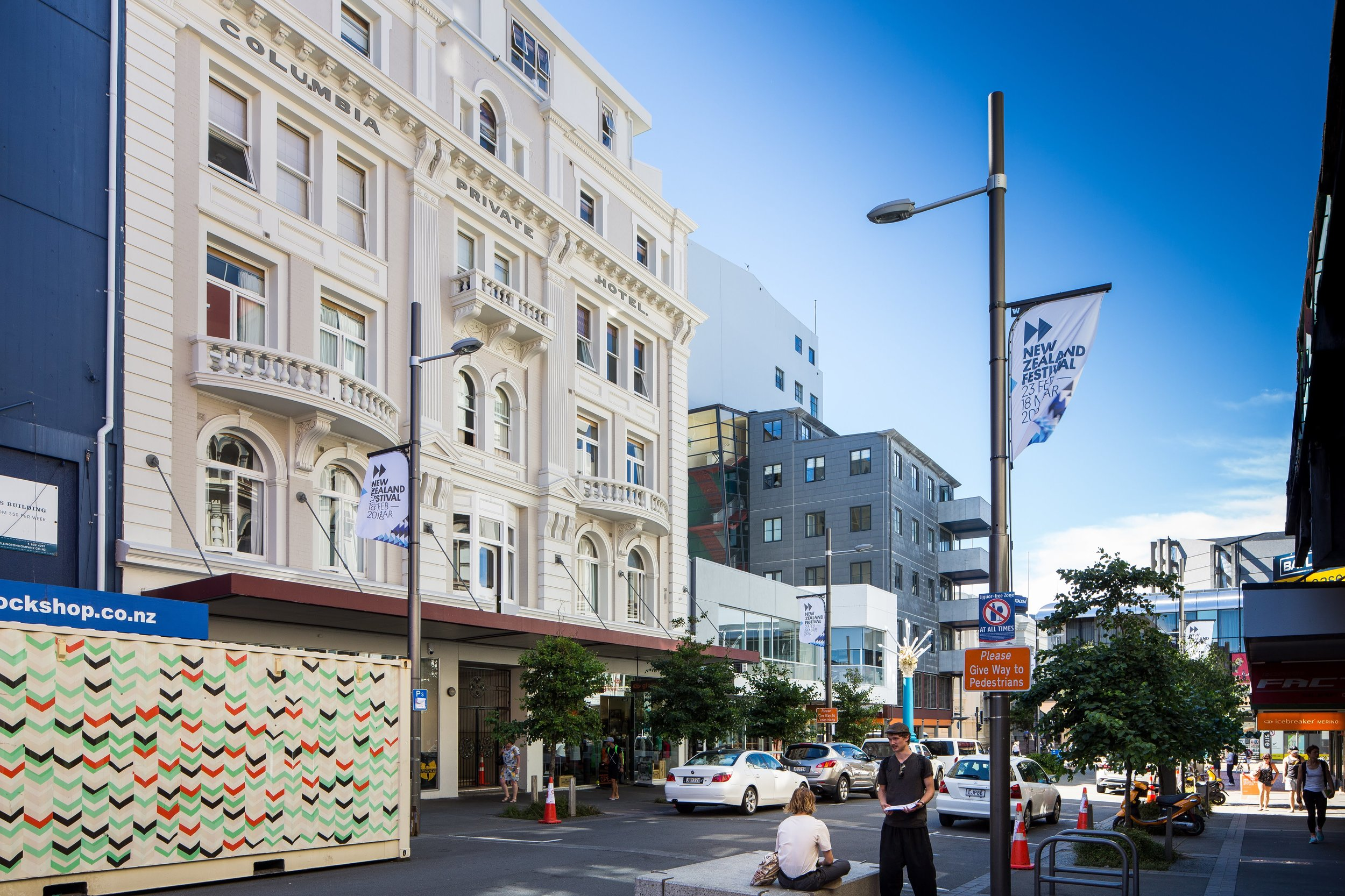 In a past life, our apartment was one of Wellington's first hotels,  built in 1908 .