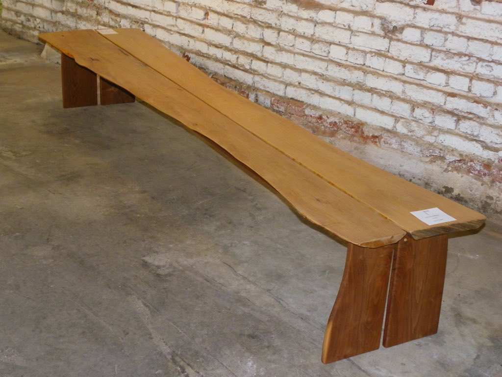 Beach Bench:  Maple Driftwood, Black Walnut