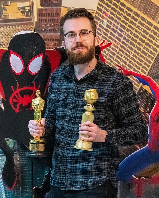 Who would have thought the little boy from Brisbane would one day be holding both an Oscar and a Golden Globe. If you work hard enough dreams really do come true! A huge congratulations to the whole Sony team, I'm very proud to be a part of the family! #imageworks #spiderverse