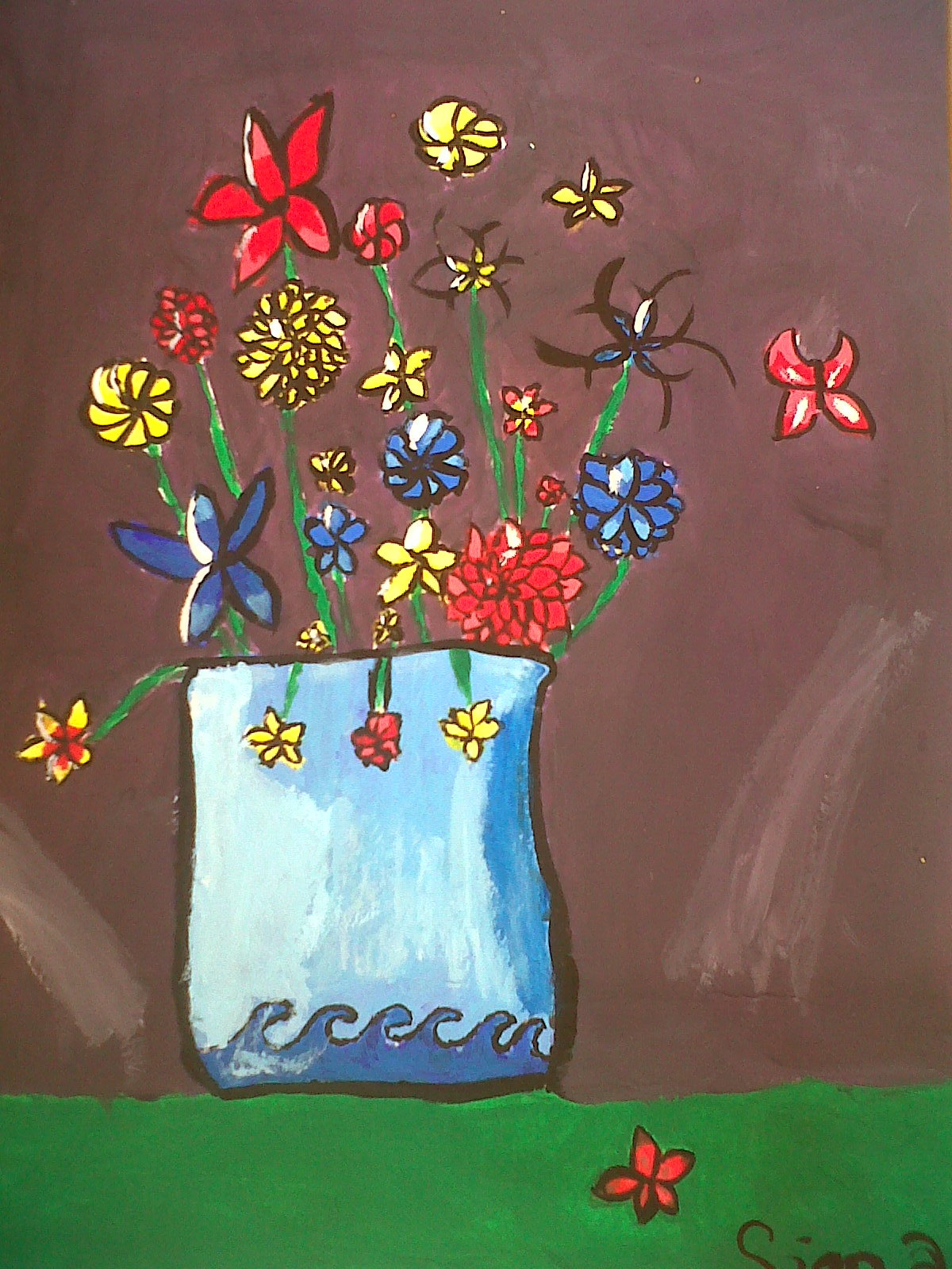 Flowers in Blue Pot by Siena Kreisher age 12.jpg