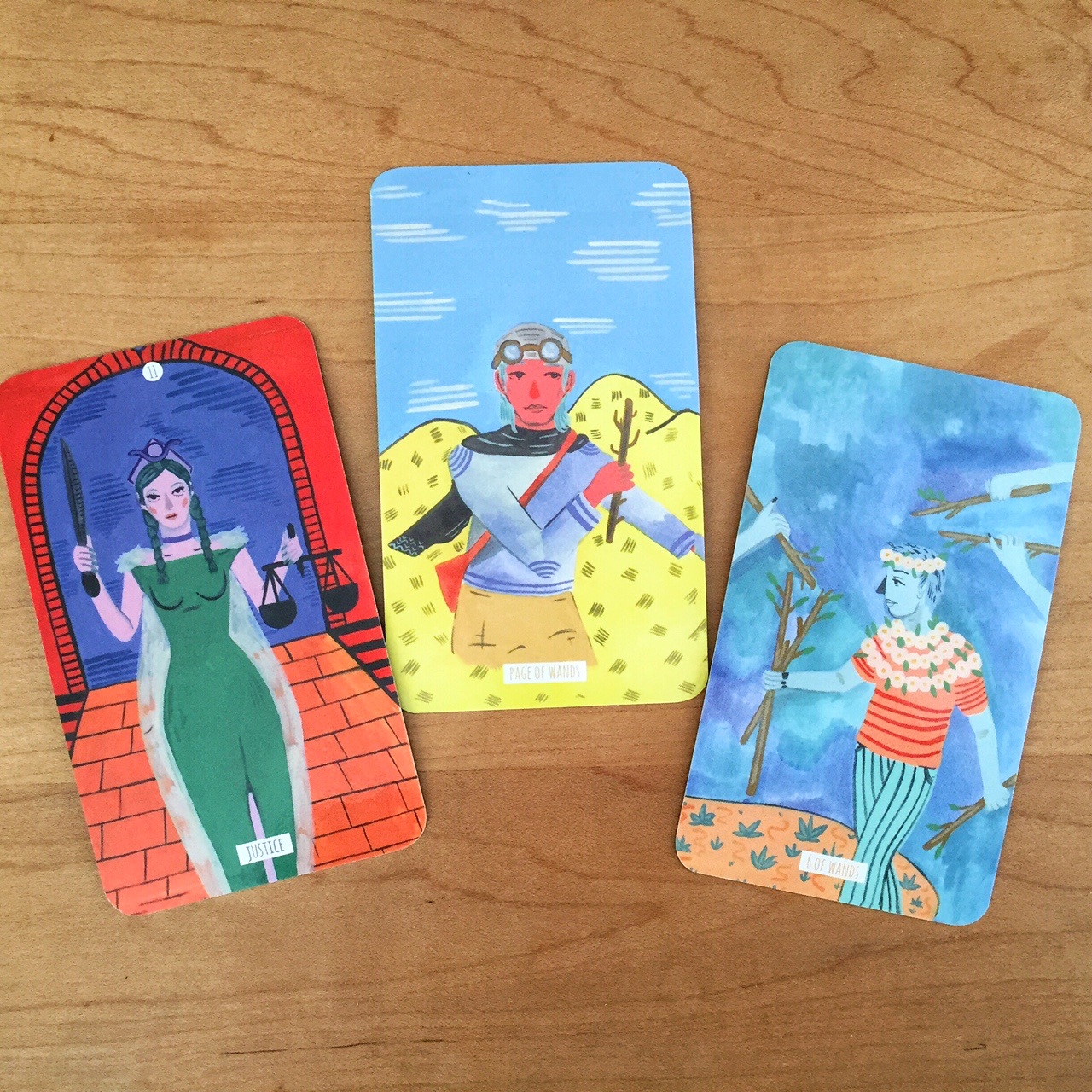 Cards from the magnificent  Circo Tarot.