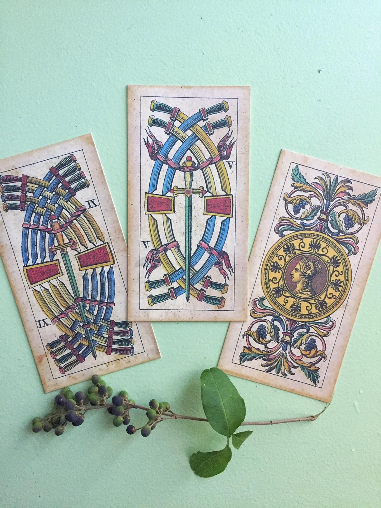 Cards from  Il Meneghello's  Soprafino Tarot