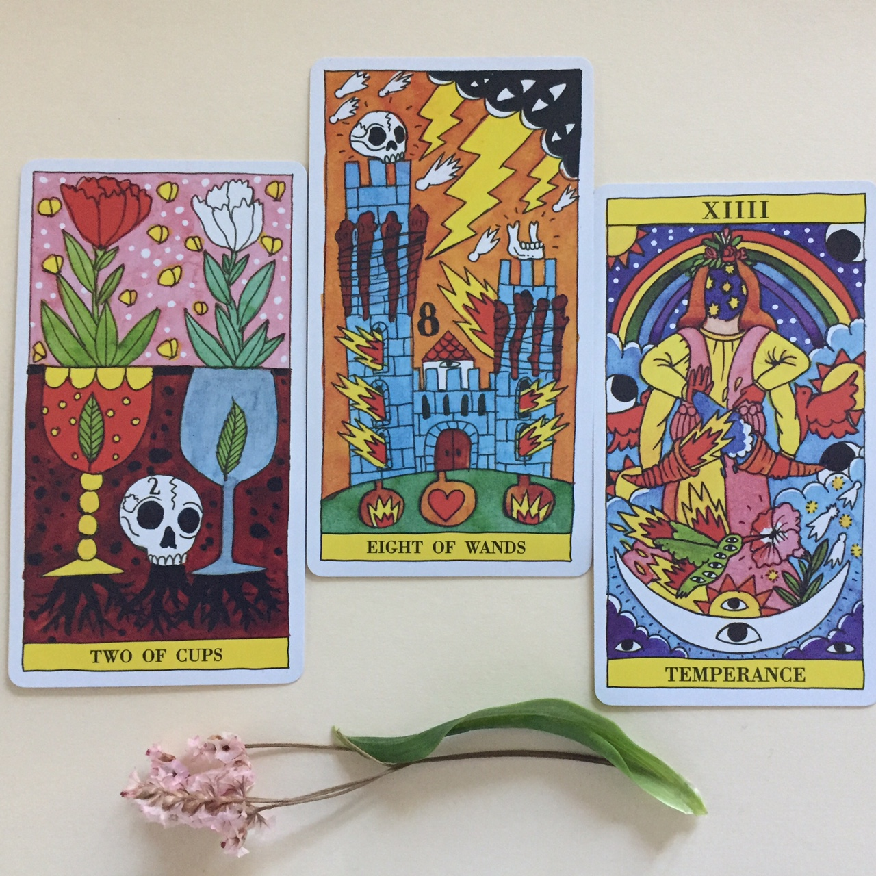 Cards from the  Tarot del Fuego