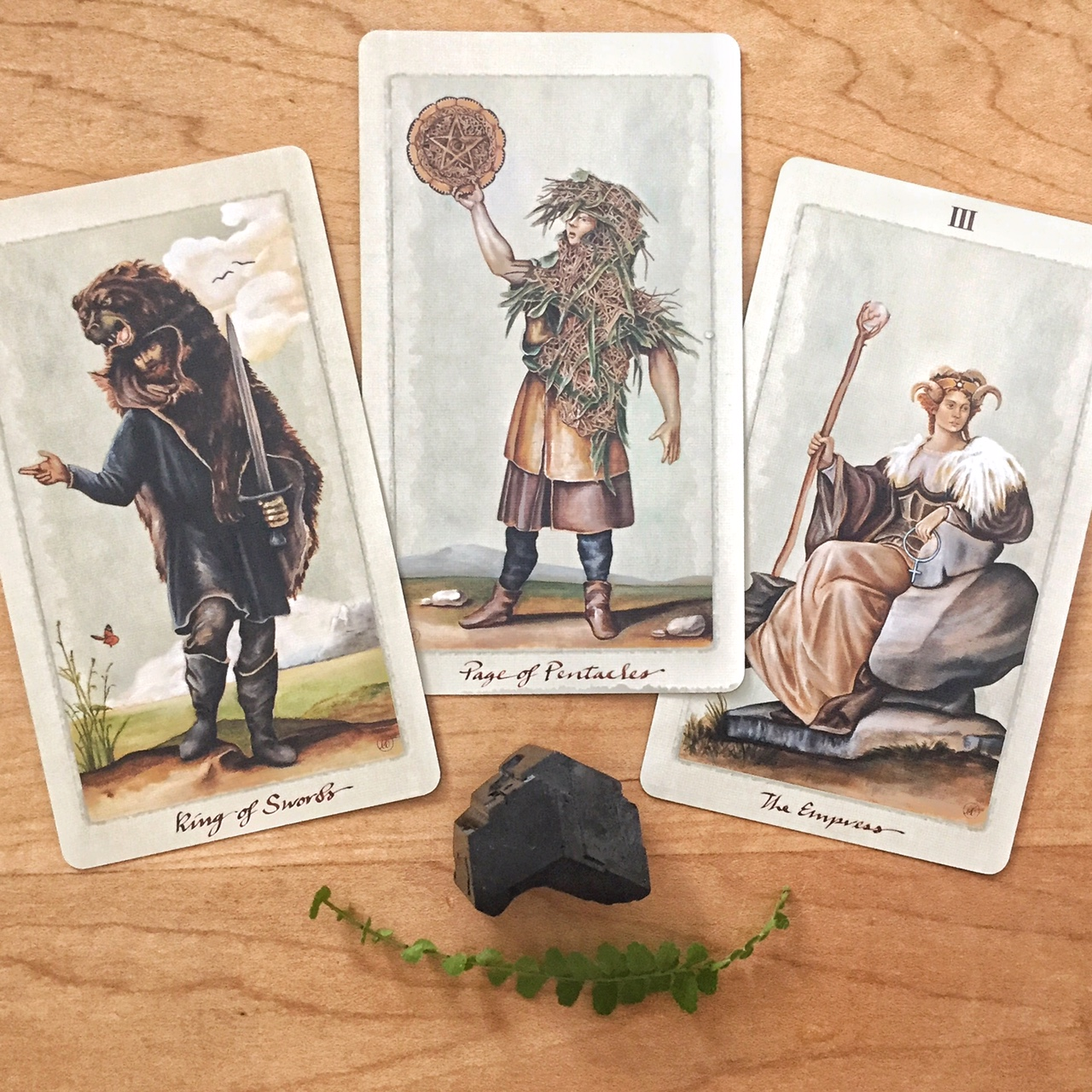Cards from the Pagan Otherworlds Tarot