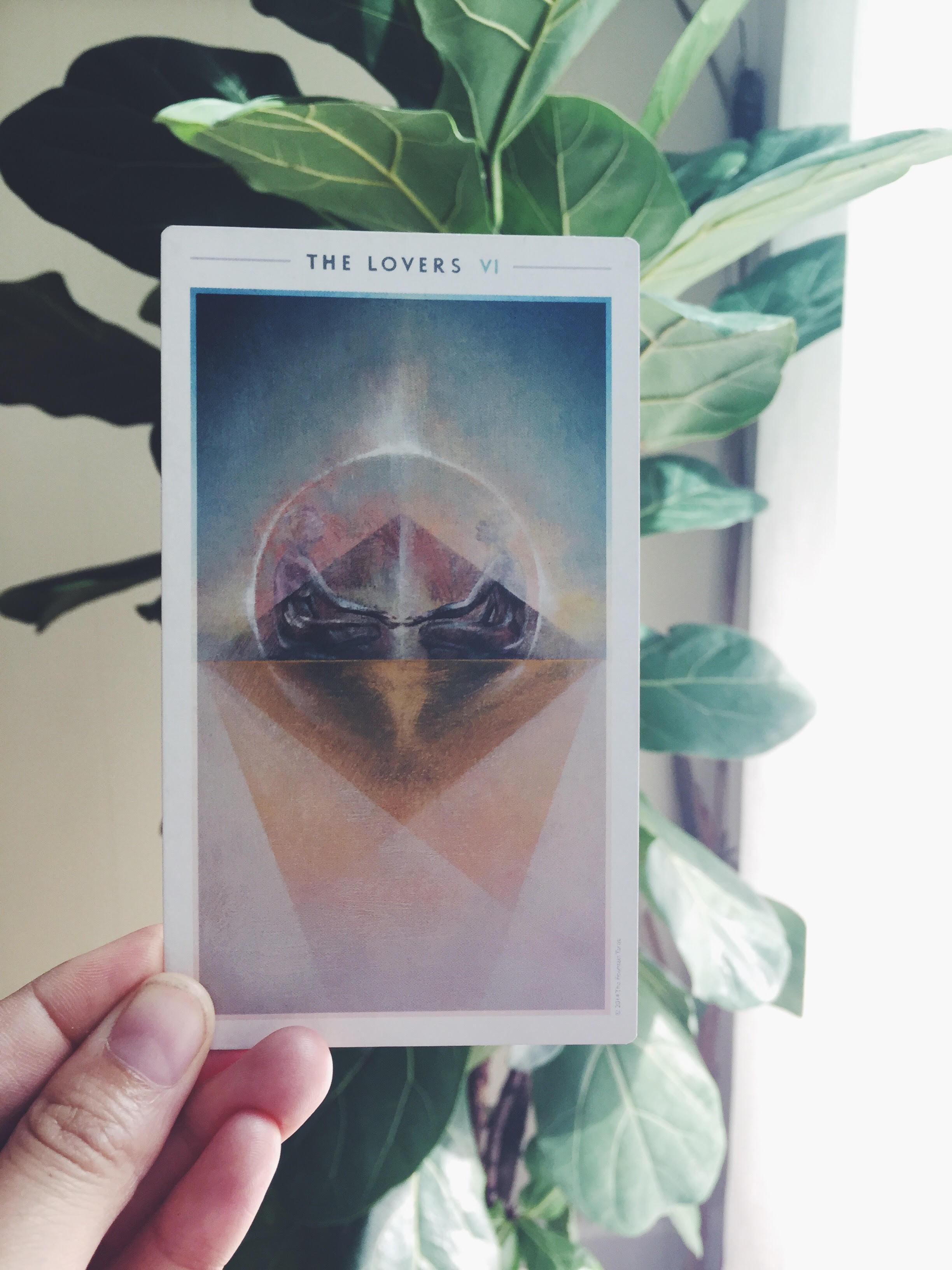 The Lovers Fountain Tarot Card