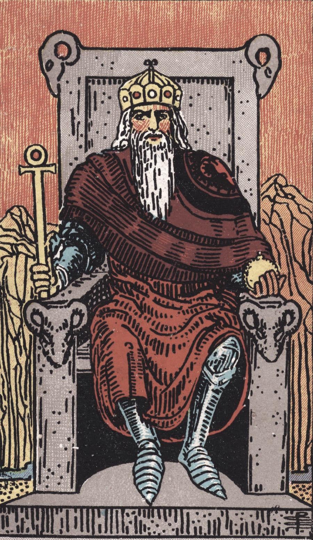 The Emperor Ride Waite Tarot Card