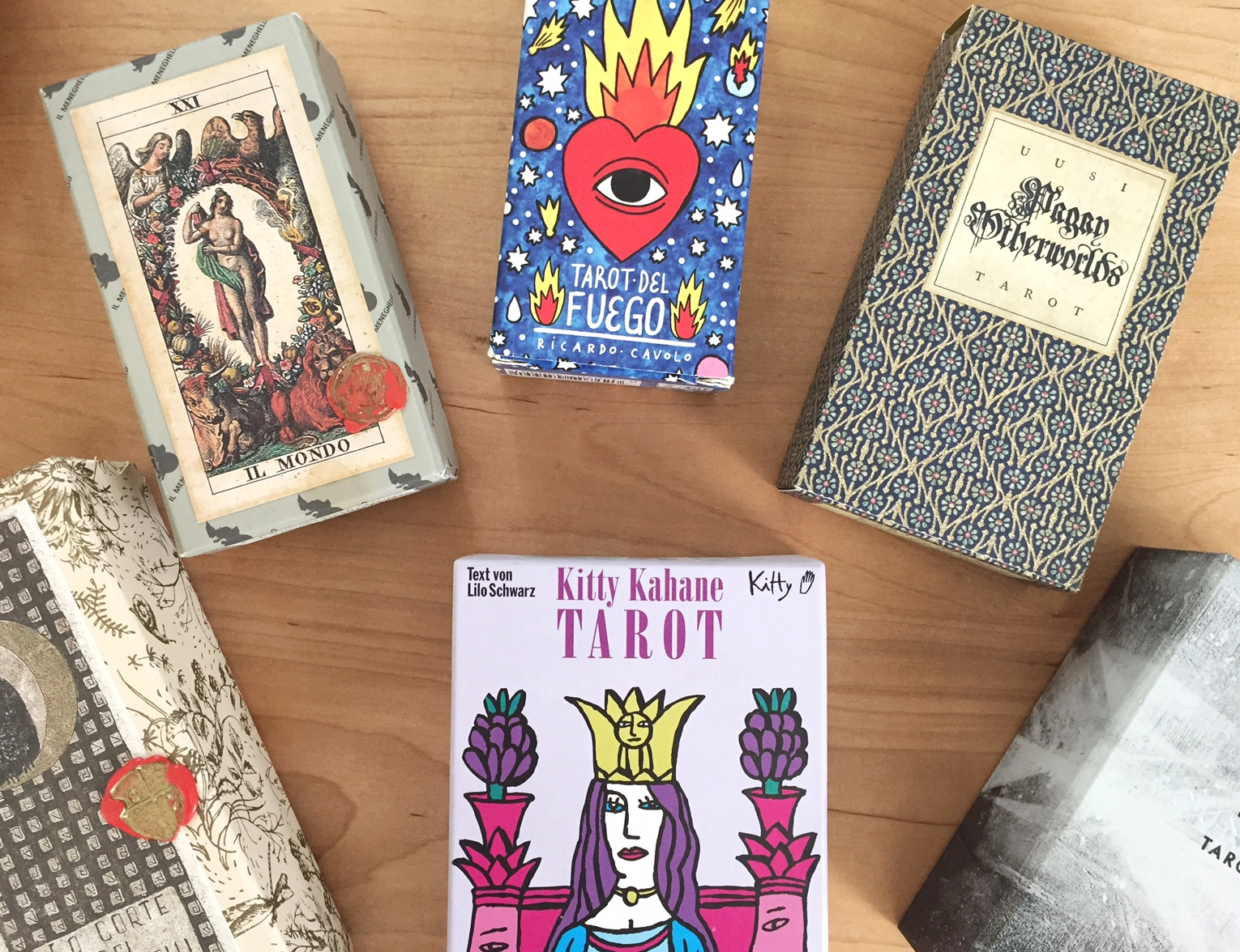 Assorted Tarot Decks