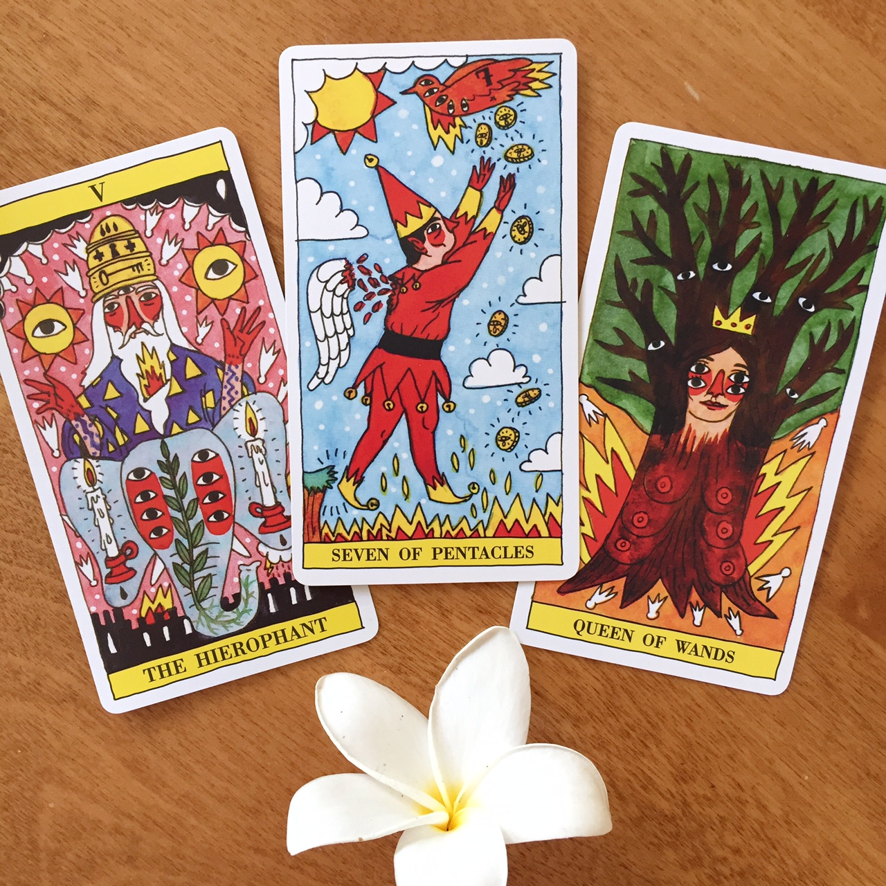 Tarot Reading Tarot del Fuego Three Card Vibrant