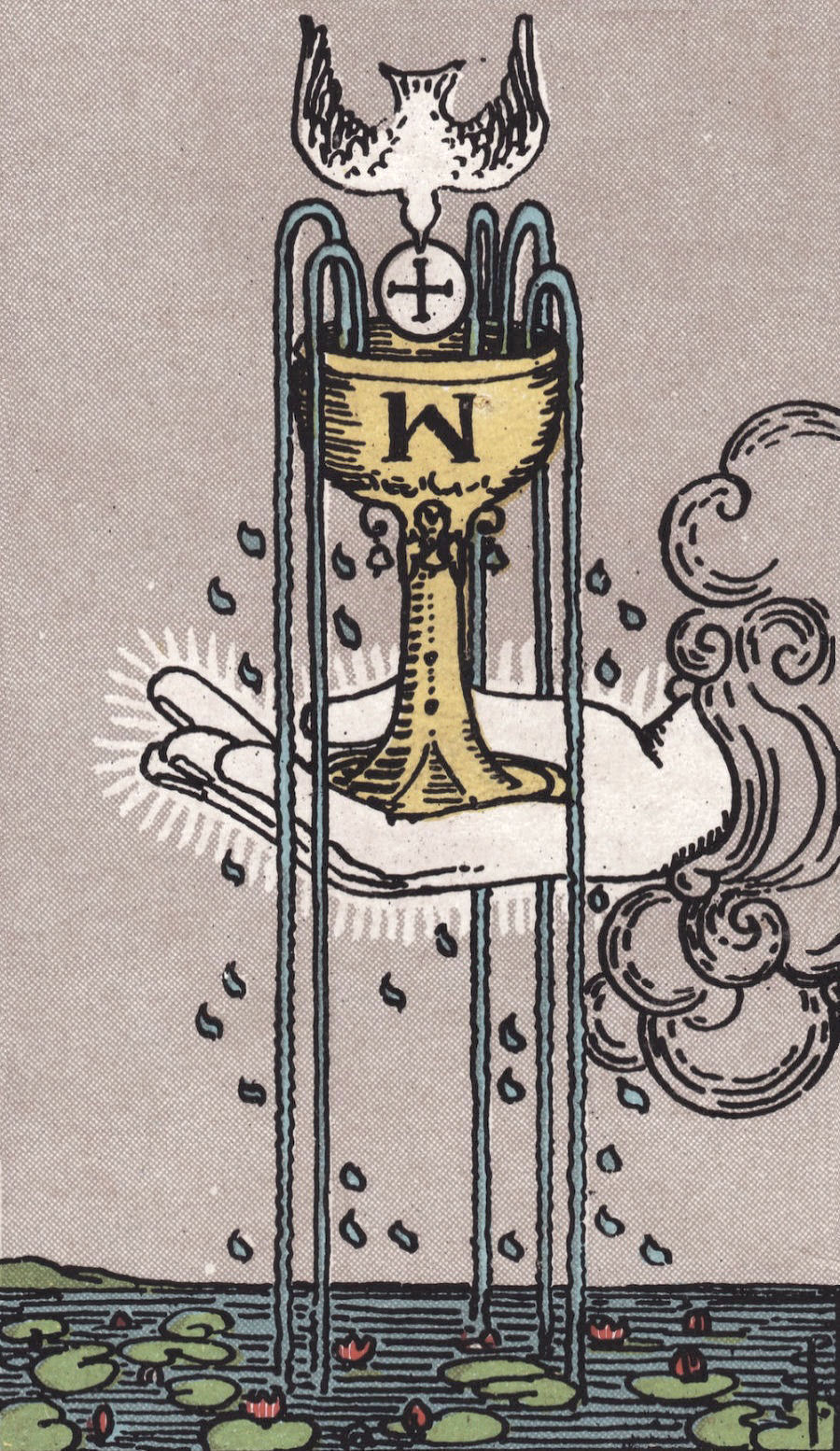 Rider Waite Smith Ace of Cups Tarot Card Meaning
