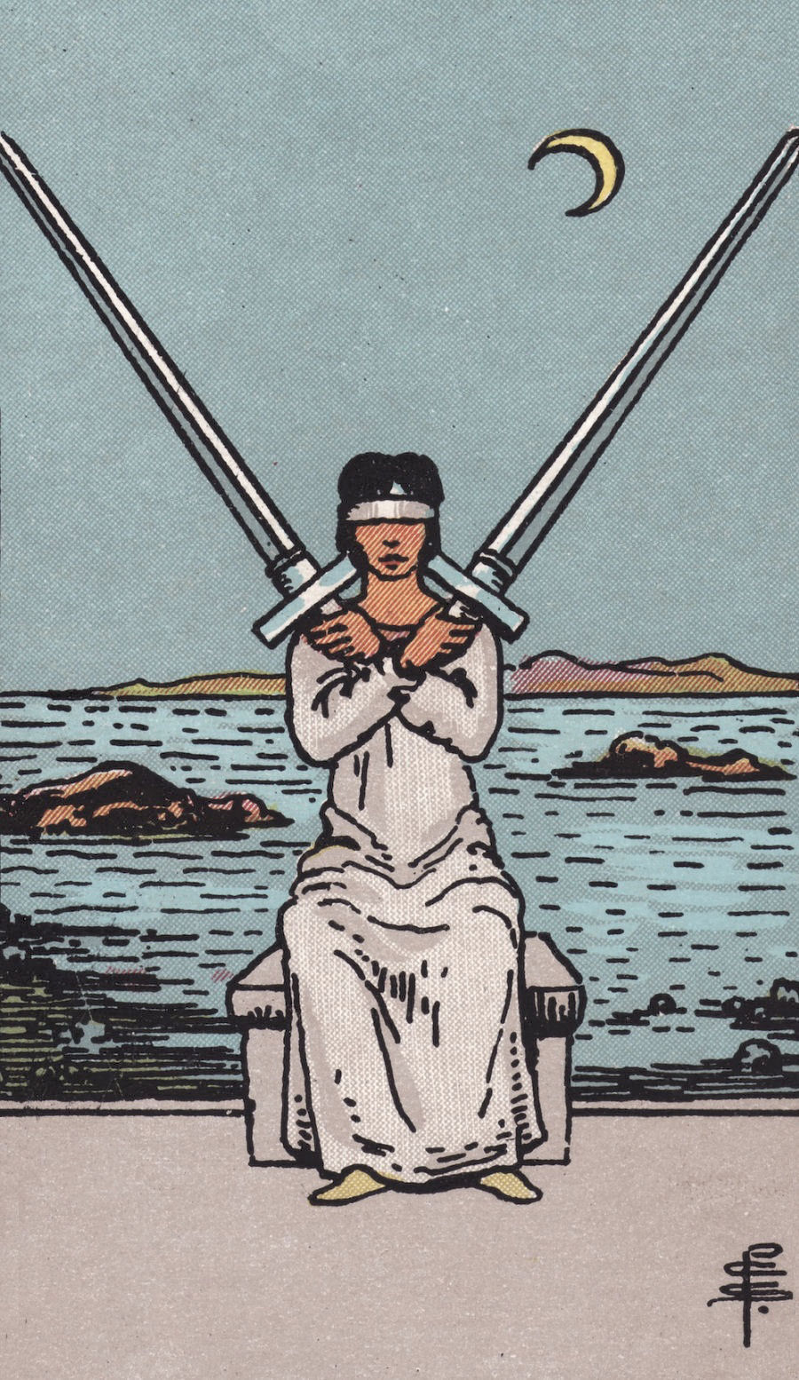 Rider Waite Smith Two of Swords Tarot Card Meaning