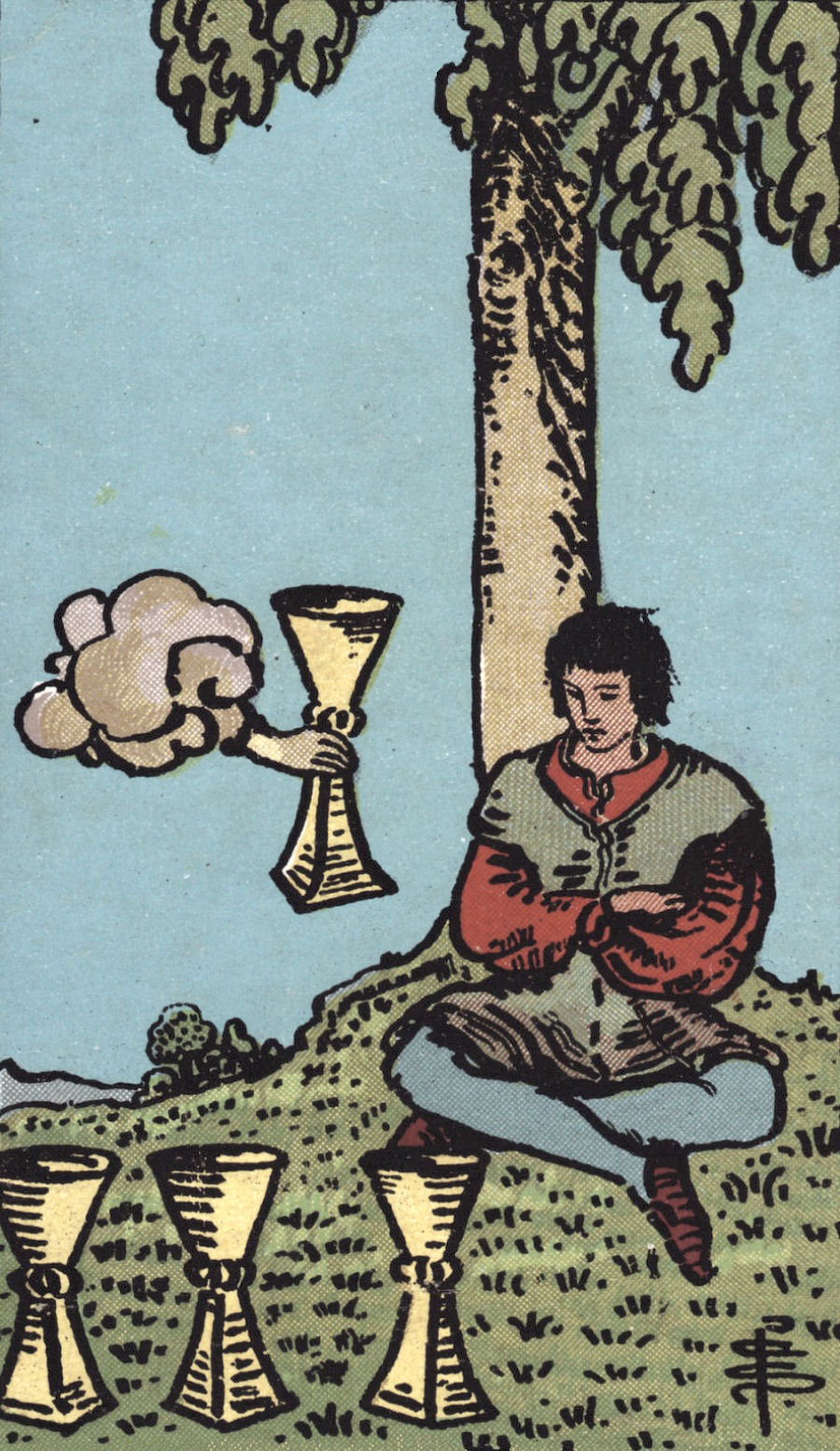 Rider Waite Smith Four of Cups Tarot Card Meaning