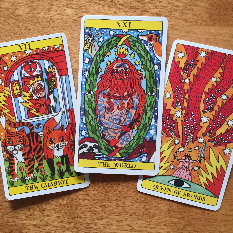 Pagan Otherworlds Tarot Knight of Cups The Magician Ten of Swords