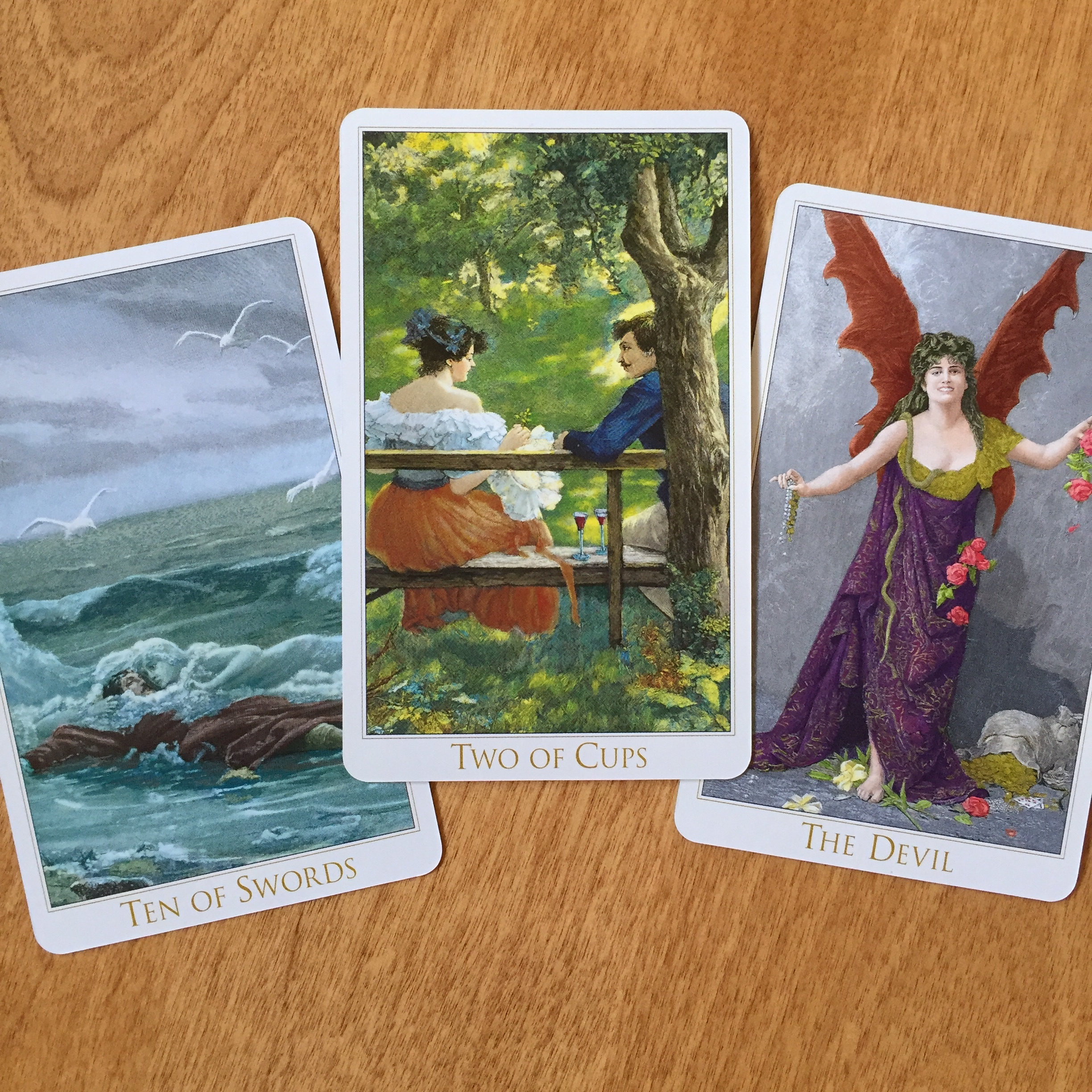 Weekly Forecast with the Victorian Romantic Tarot