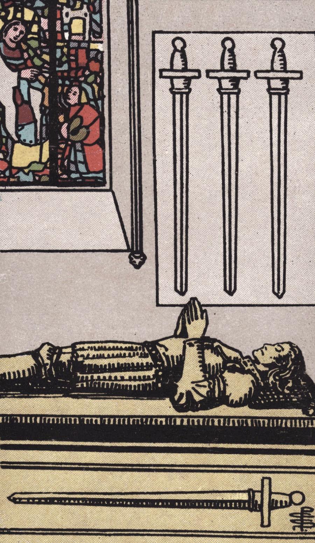 Four of Swords Rider-Waite-Smith Tarot Card