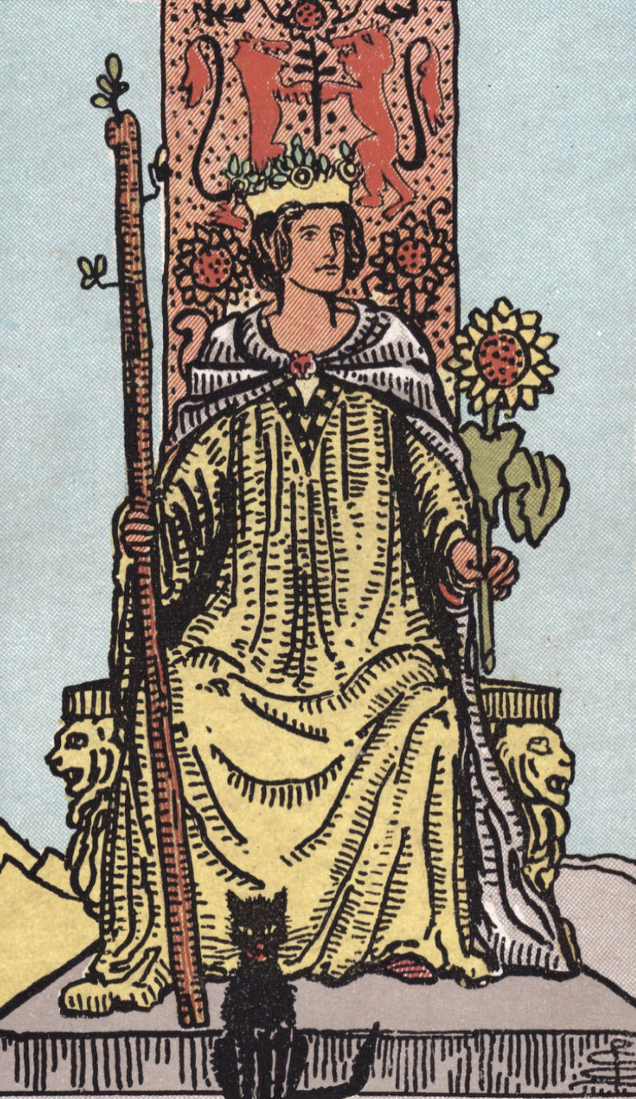 Rider Waite Smith Queen of Wands Tarot Card Meaning