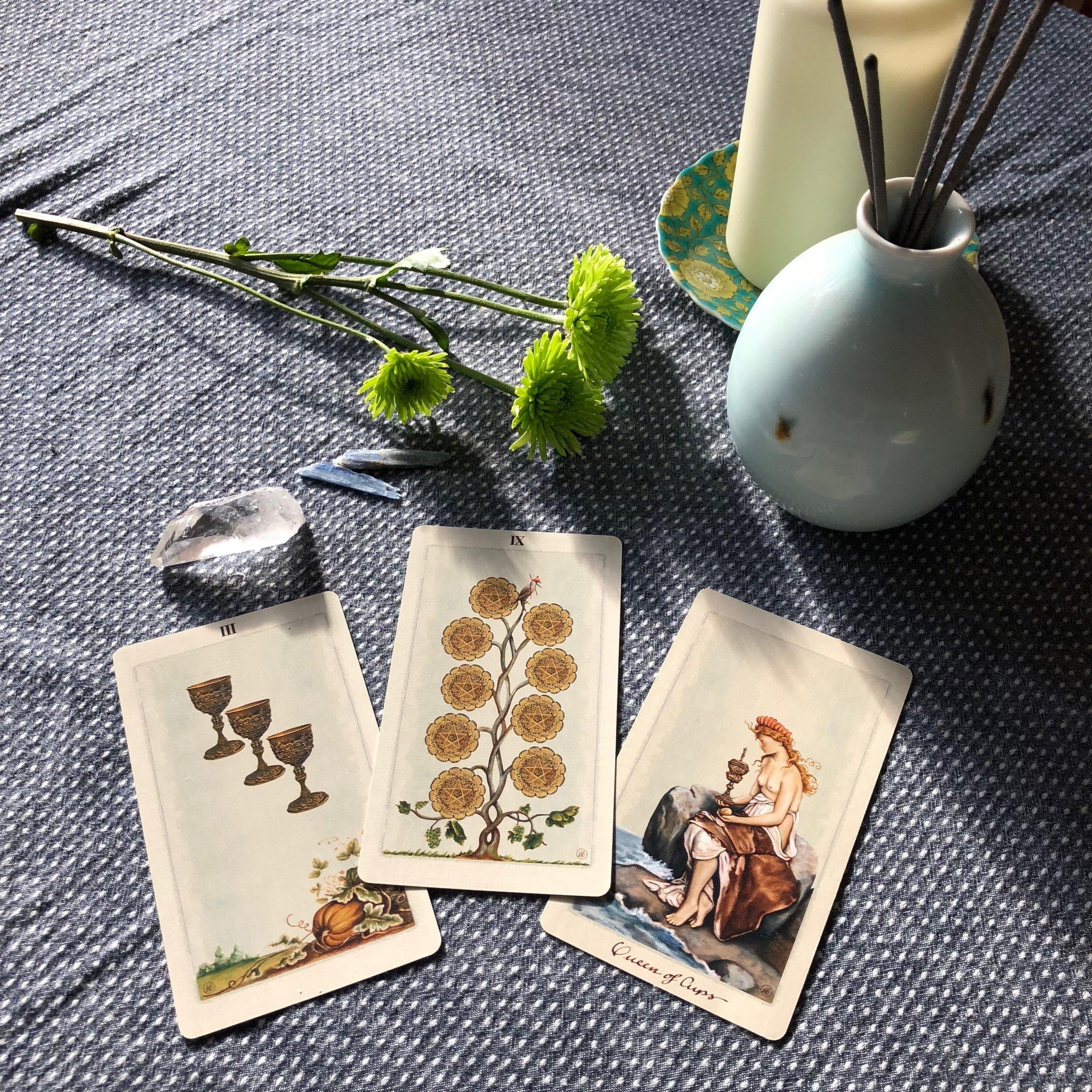 Pagan Otherworlds Tarot Three Card Reading