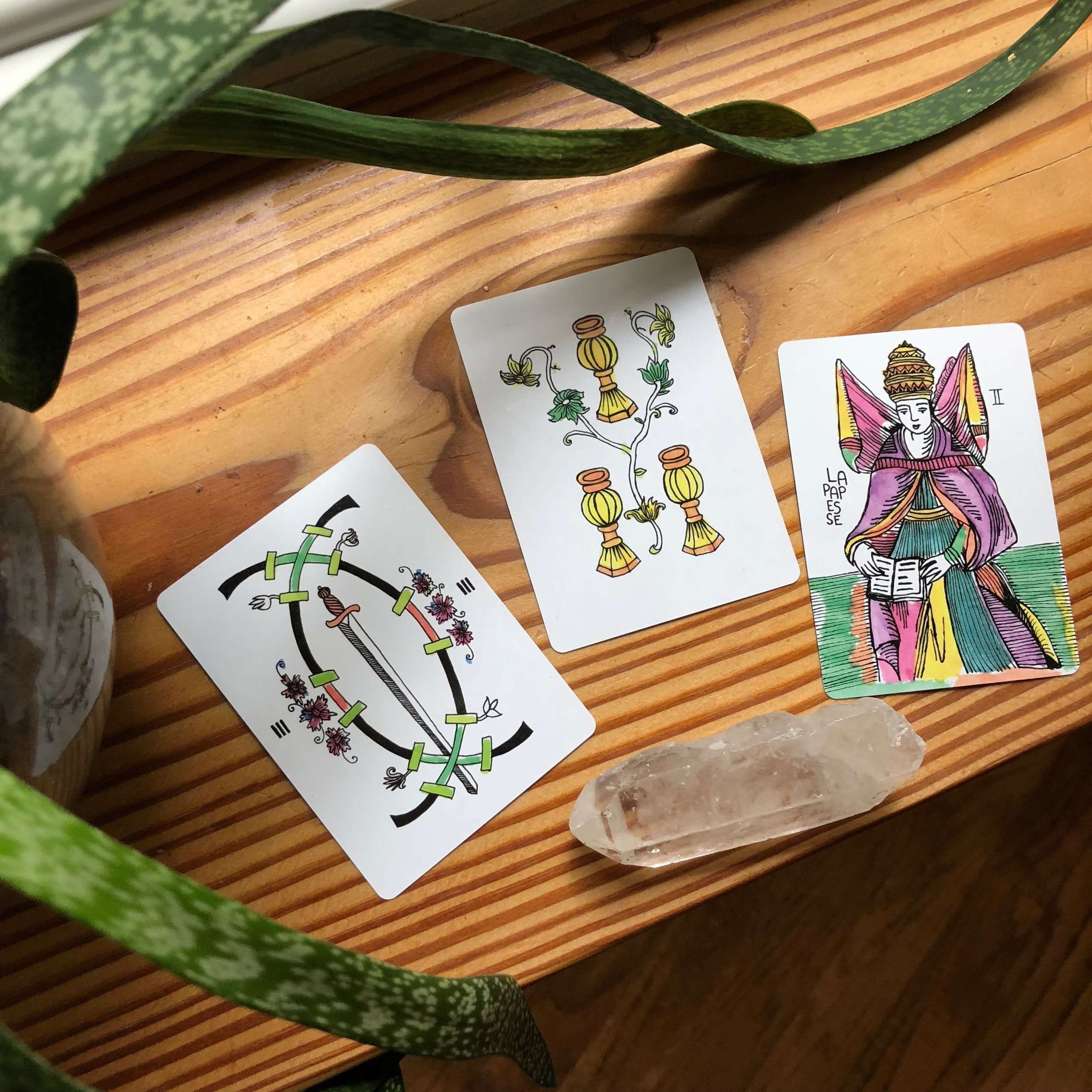 Marshmallow Marseille Tarot Reading with Three Cards