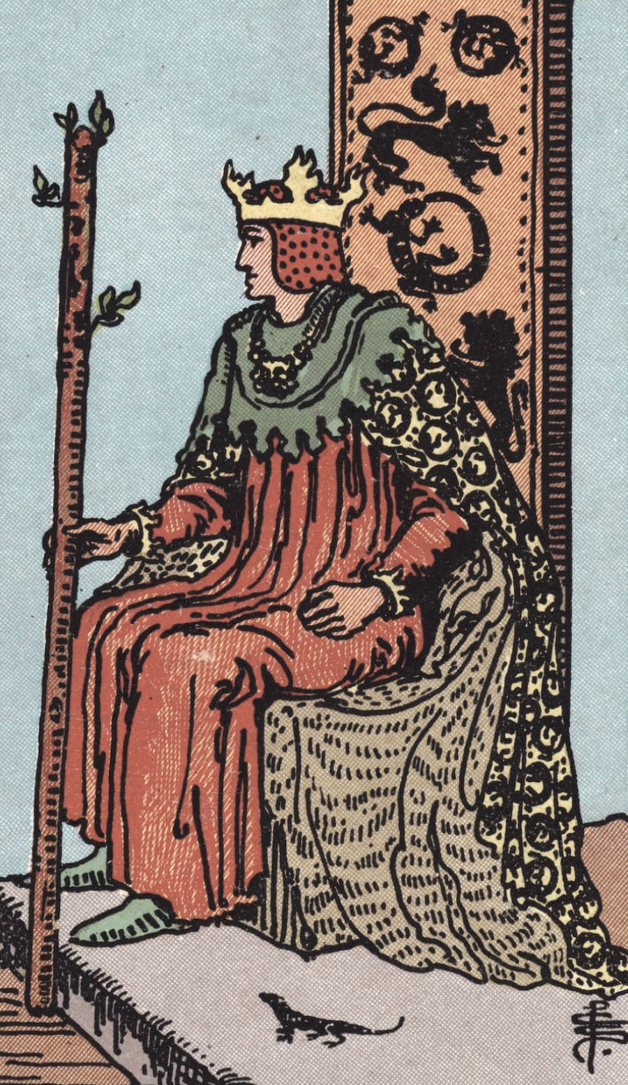 Rider Waite Smith King of Wands Tarot Card Meaning