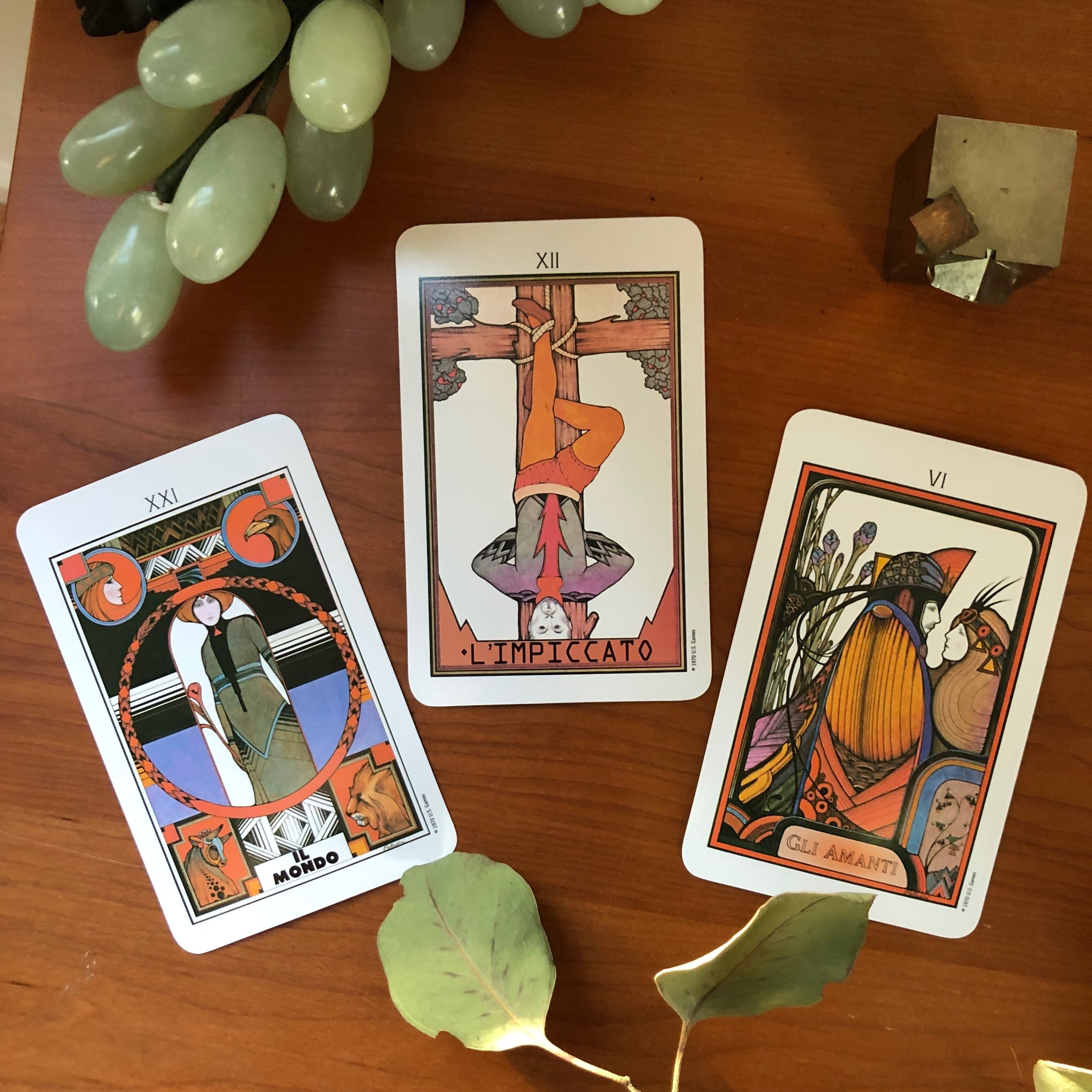 Three Card Reading Aquarian Tarot