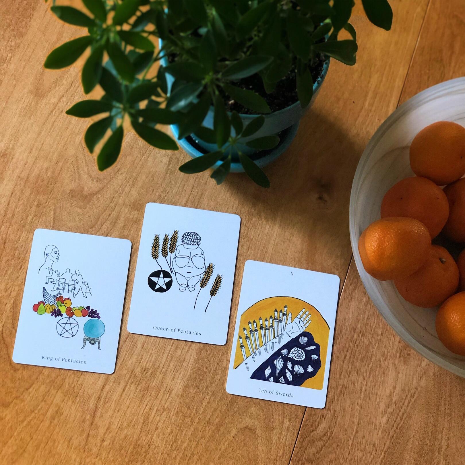 Three Card Tarot Spread Apparition Tarot Deck Pentacles Spirit Speak