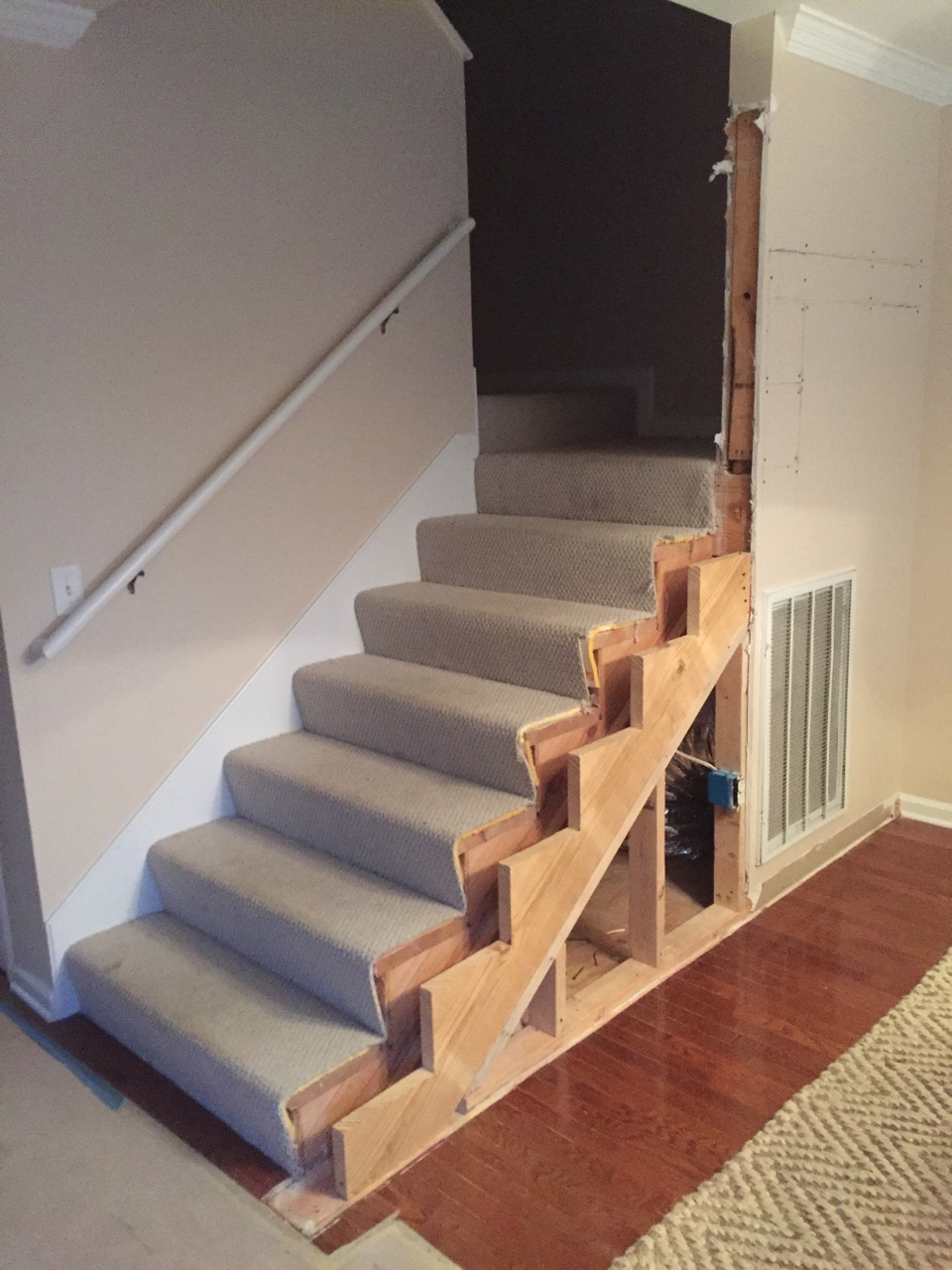 simple changes to these stairs made a huge difference.