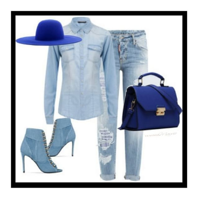 Denim-ed Down ~ Denim looks are a must for the Spring, adding a bold color demand respect and makes a powerful statement. [ShopSSU.com]  #teyondamarrie #thestylecode #styleslayuniversity . . . . .  #fashiondesigner #ootd #stylefiles #shopaholic #addictedtofashion #mixedchick #styletips #wardrobe #bloggertips #blackgirlmajic #girltalk #girlpower #womenstyle  #lotd  #trendsetters #classy #sexy #layering #accessories #slay #slayage #browngirlswhoblog  #naturalhaircommunity  #protectivestyles  #browngirlbloggers  #blackgirlswhoblog  #styleblogger