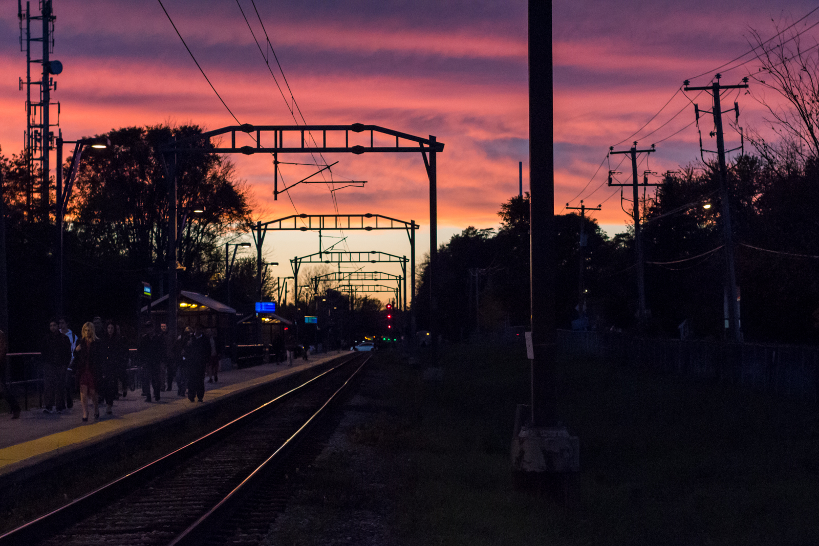 Sunset at the station