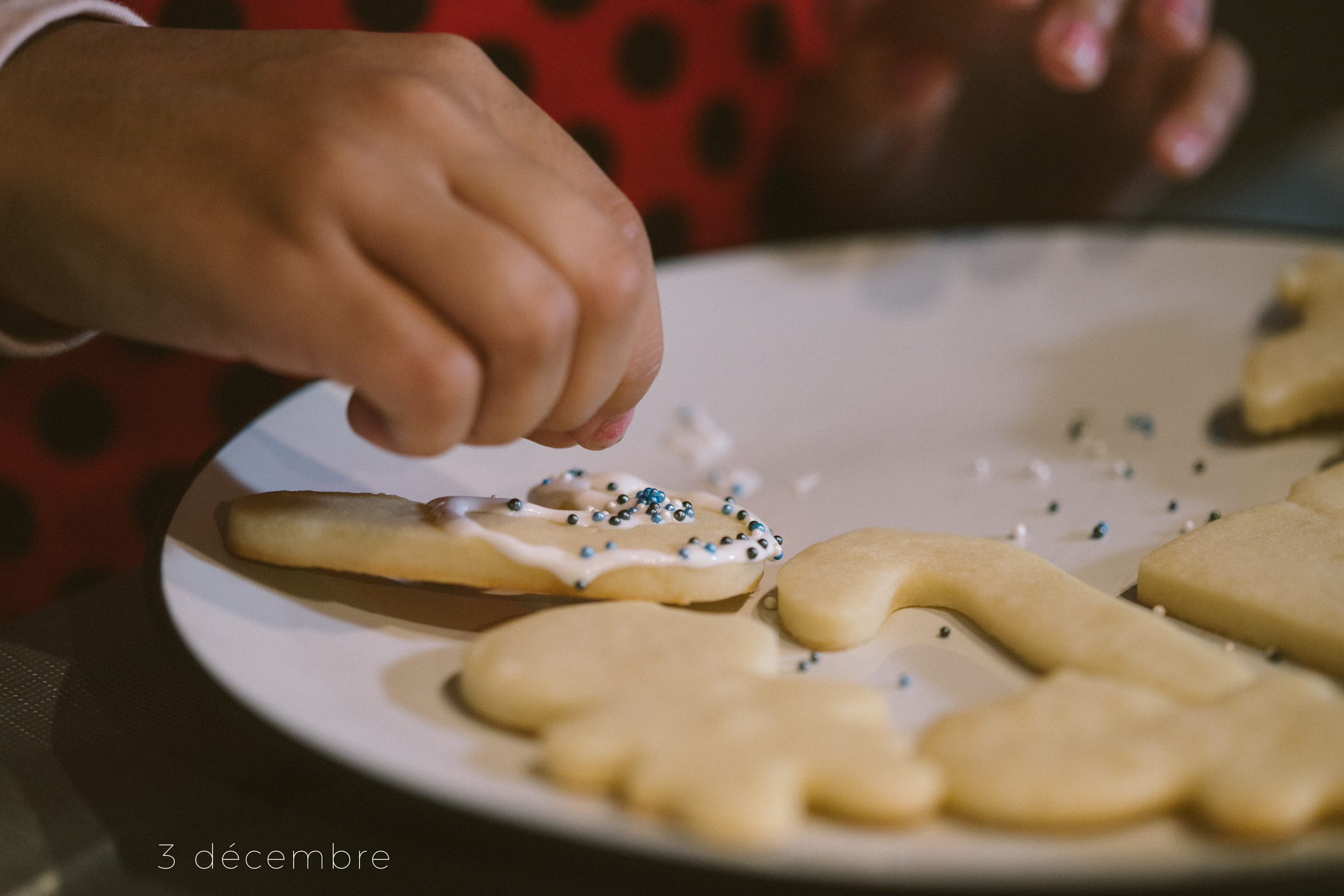 The best part of making cookies is decorating them
