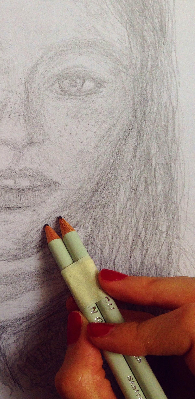 Double pencil portrait (2016)