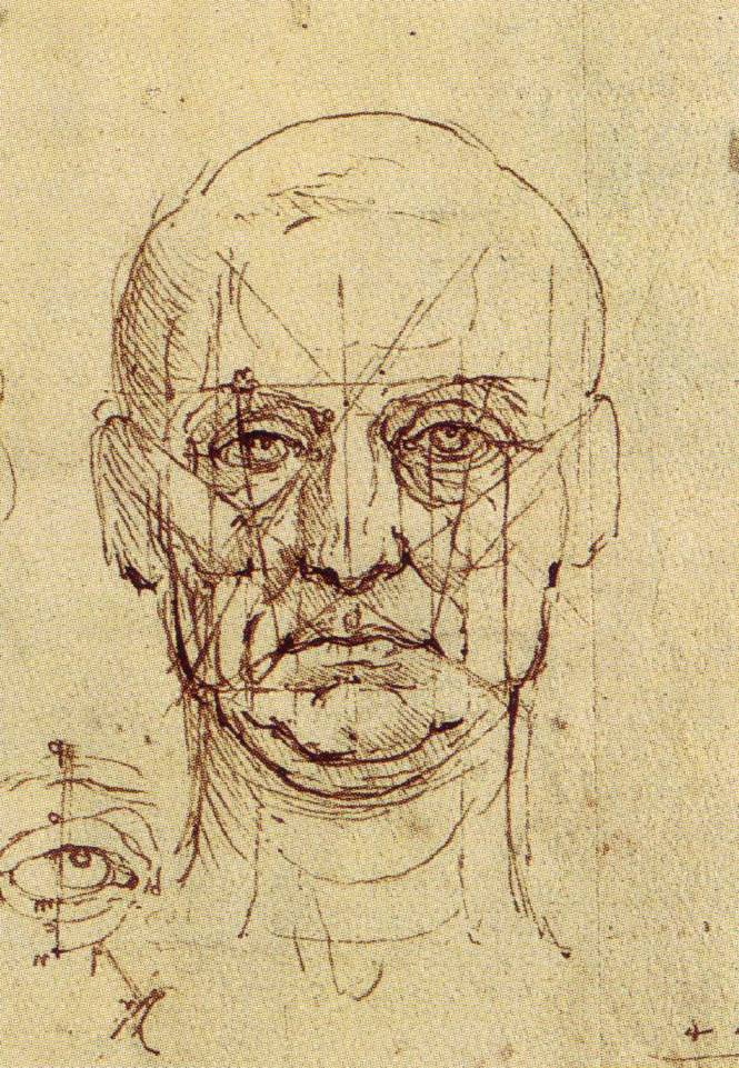 Proportions of the Face and Eye. (1489) Da Vinci.