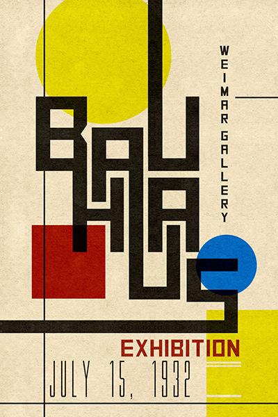 Graphic design - Bauhaus poster