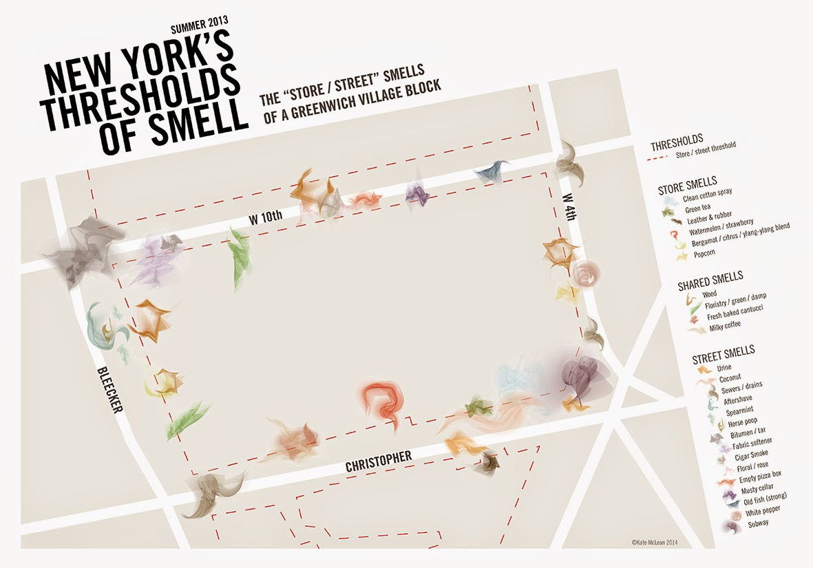 New York's Thresholds of Smell. Kate McLean. (2013)
