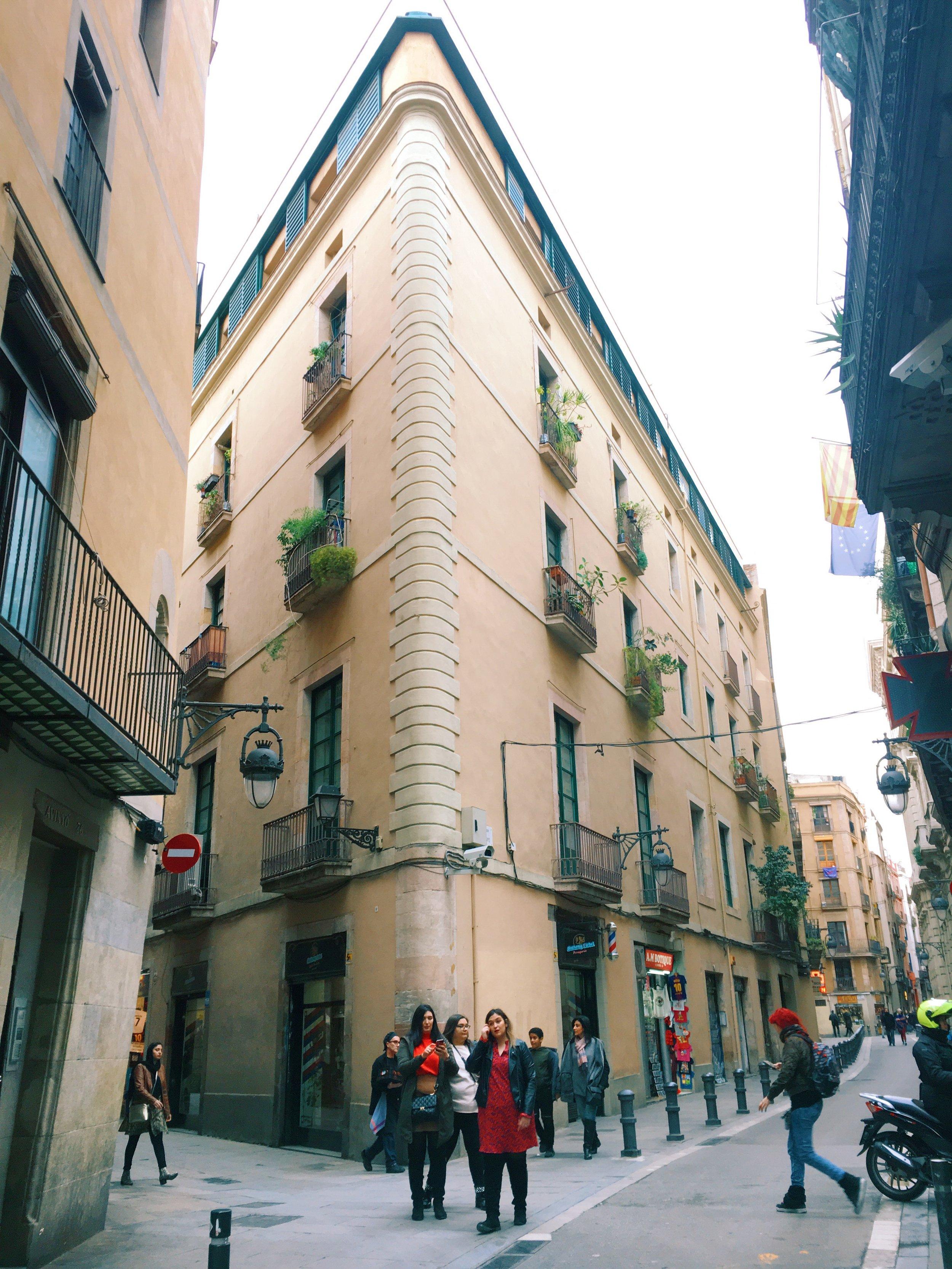 Building in the Gothic Quarter
