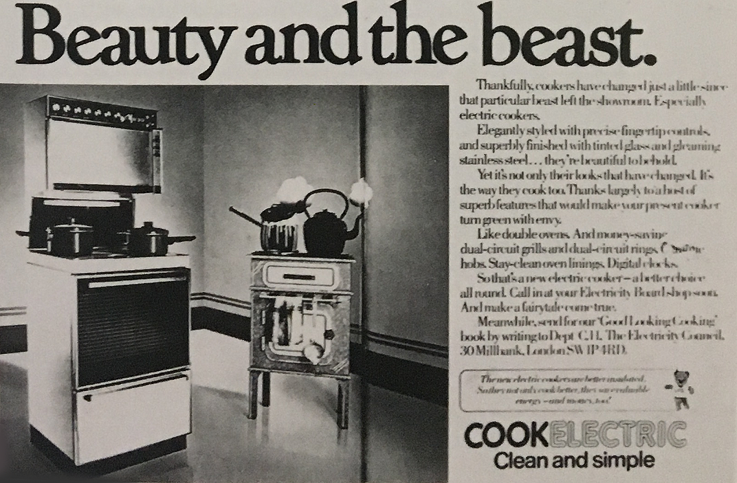 Advertisement for electricity. (1980). Company, August 1980.