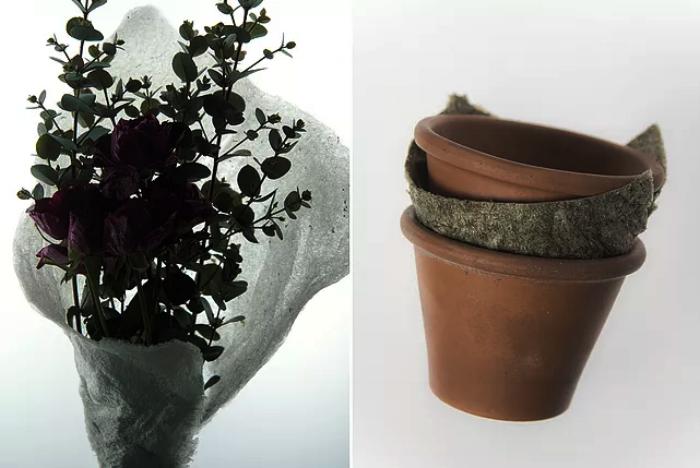 Wrapping for flowers / cushioned sheet for plant pots - Kosuke Araki