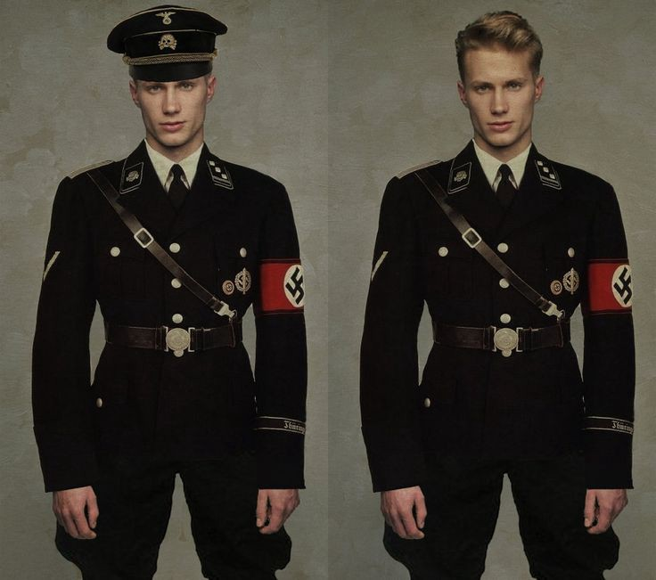 Uniform design for the higher ranking SS officers of the Nazi Party - Hugo Boss.