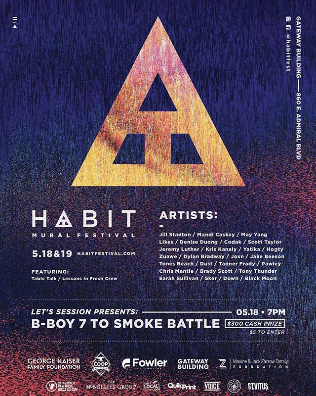 Very excited to be a part of @habitfest this year! Look for myself along side a number of super talented mural artists as we cover the location with art for the public to enjoy! #habitmuralfest #habitmuralfest2019 #oklahomamurals