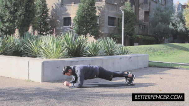 Jason Rogers Doing Anterior Plank Exercise For Fencing