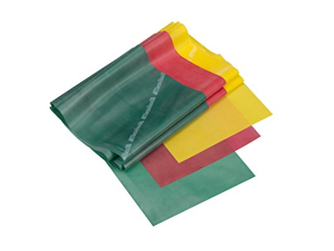 Green, red and yellow Therabands