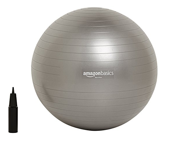 Physio Ball with Hand Pump from Amazon Basics