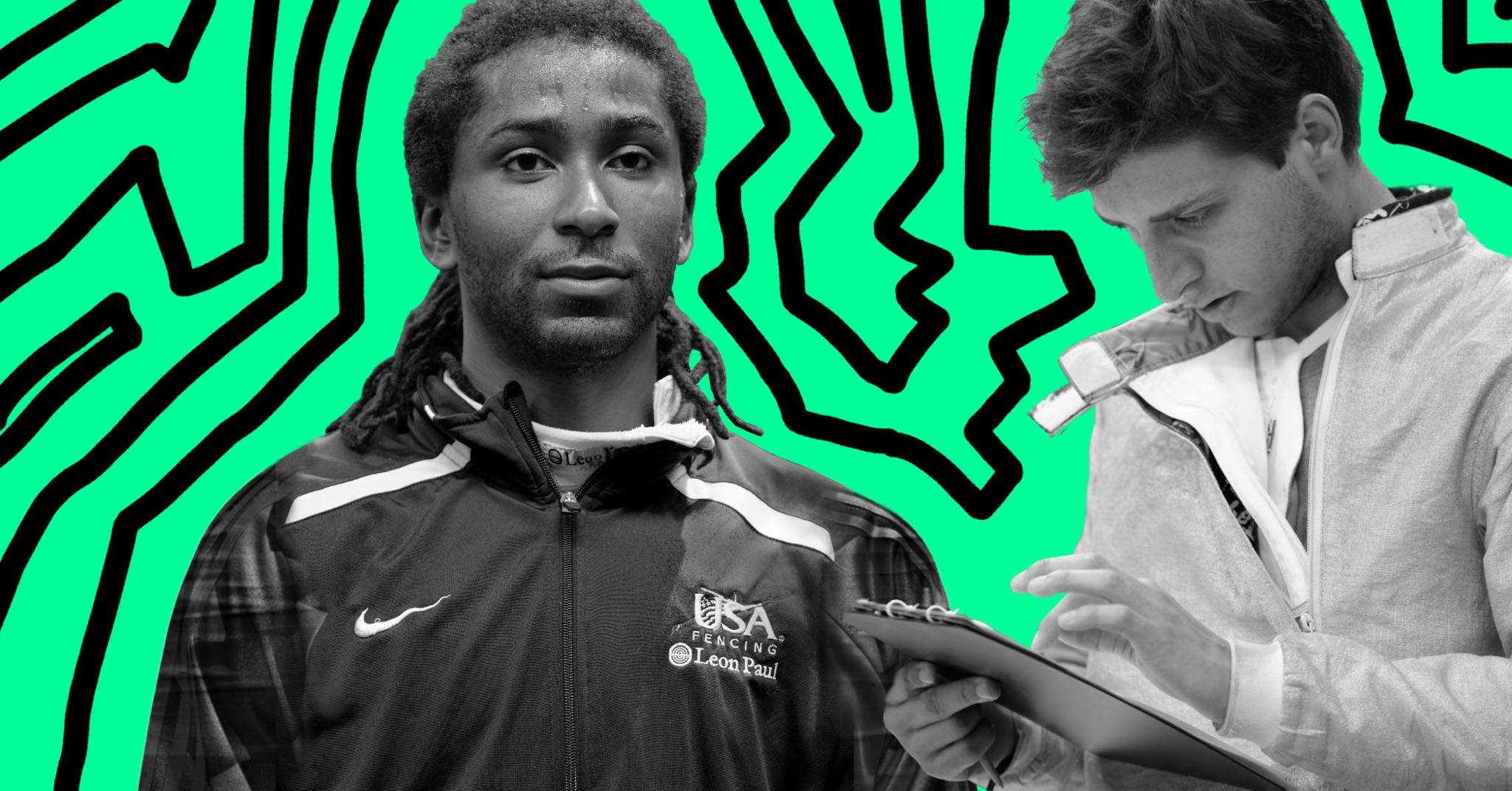 Olympic fencers Jason Pryor and Eli Dershwitz