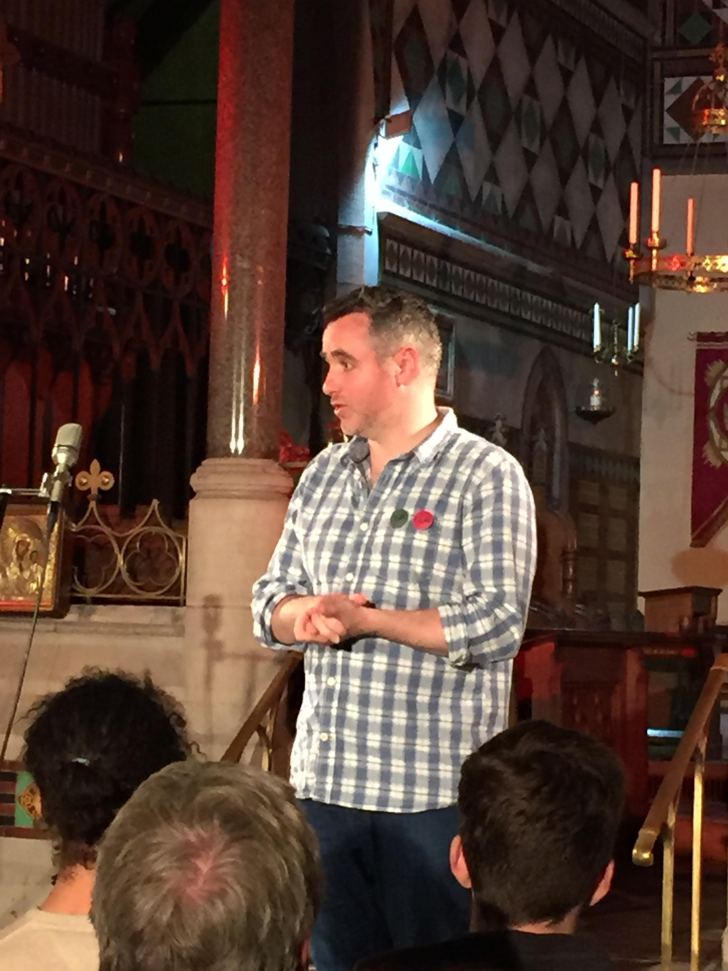 Matthew McAllister talks.
