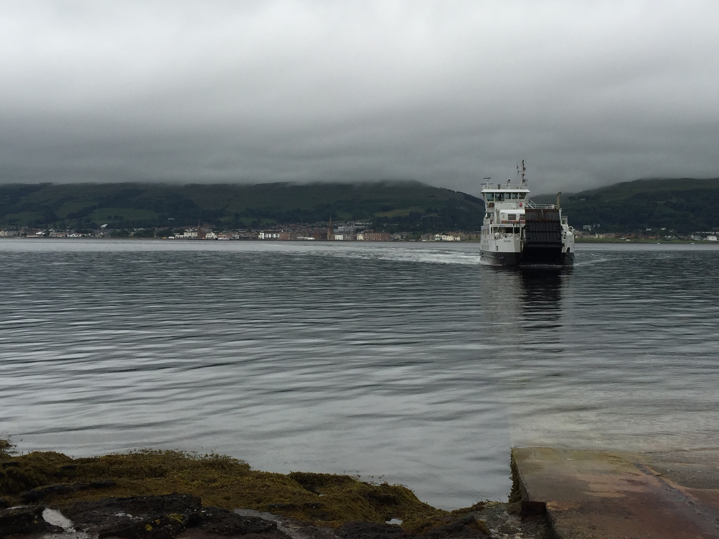 The ferry to the island.