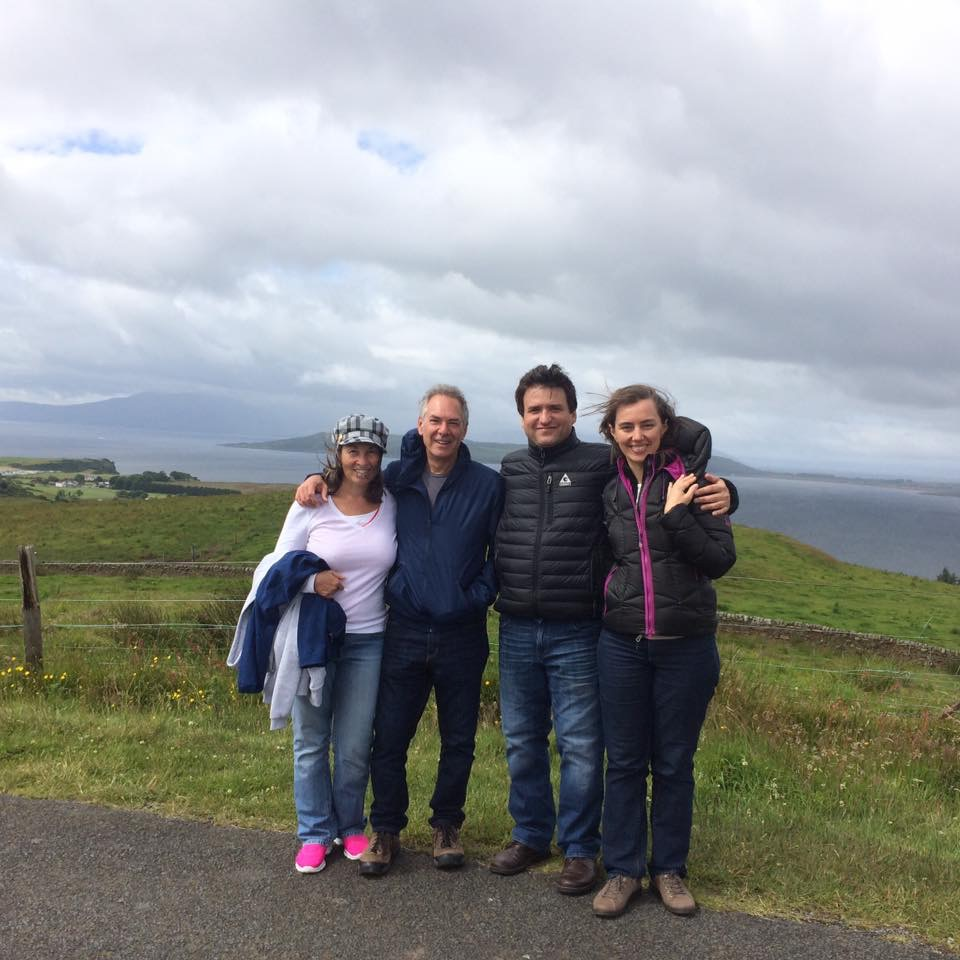 Walking to the top of the hill, with friends René Izquierdo and his wife Elina Chekan. The views were fabulous.