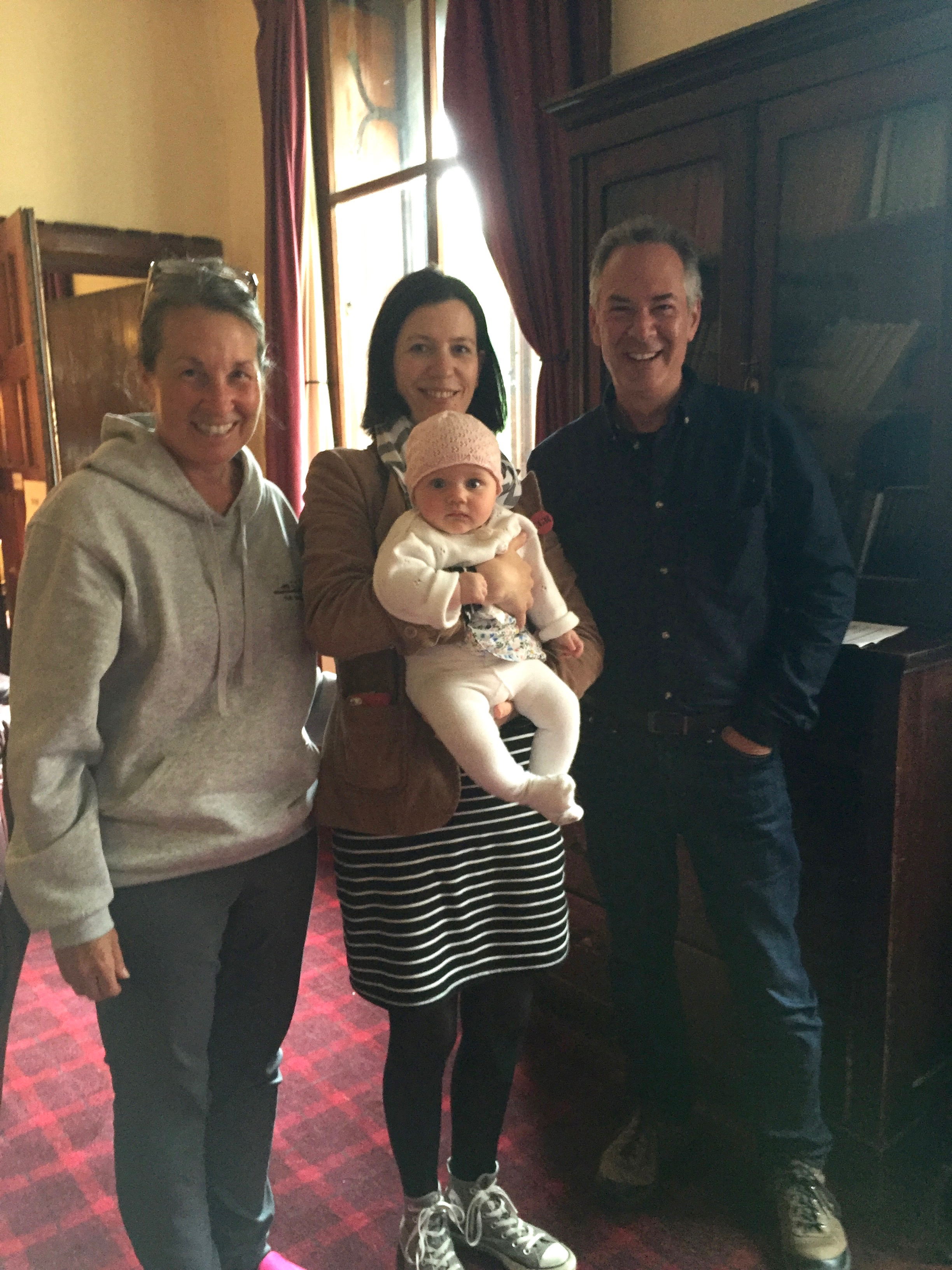 Here we are with the Retreat's youngest participant, Martha, and her mom, Aisling Agnew. Martha was consistently bright and cheery, a lovely and good-natured baby. Matthew and Aisling are very lucky indeed!