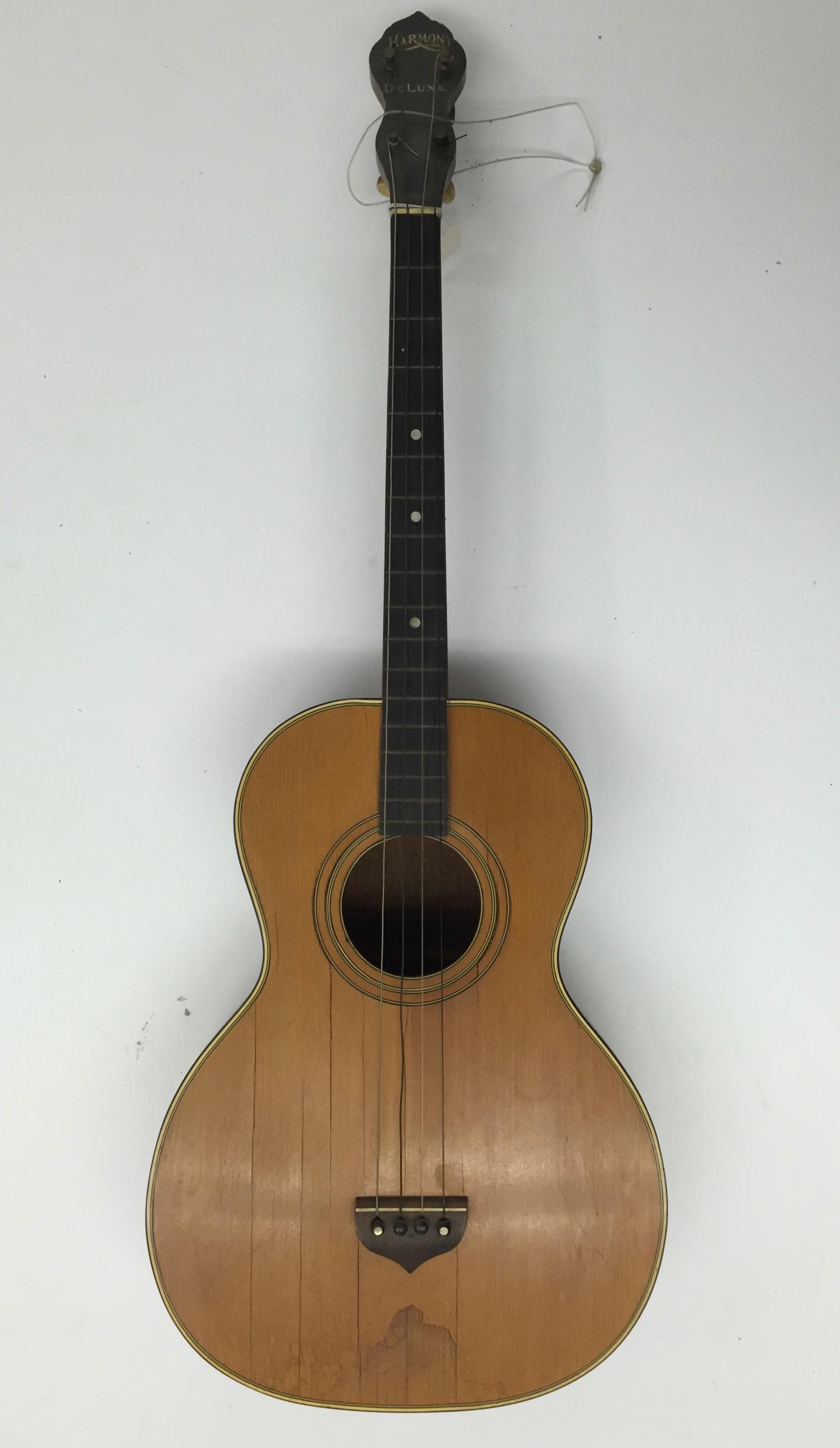 Harmony baritone mandolin, shaped like guitar, ca. 1920
