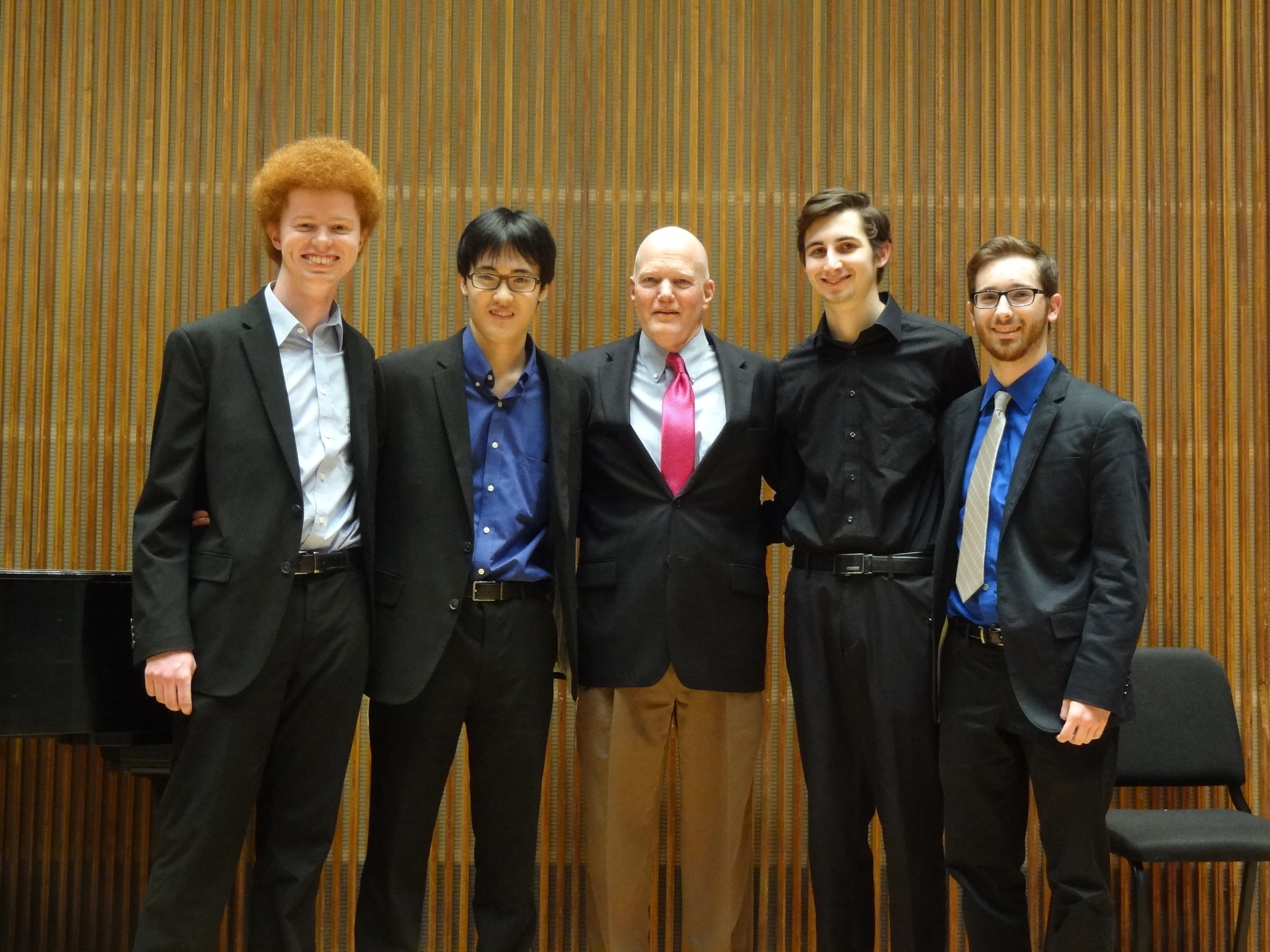 Andrew Poxon (1st), Yeram Yoon (2nd), James Stroud, Adam Sutorius (4th) and Brian King (3rd)